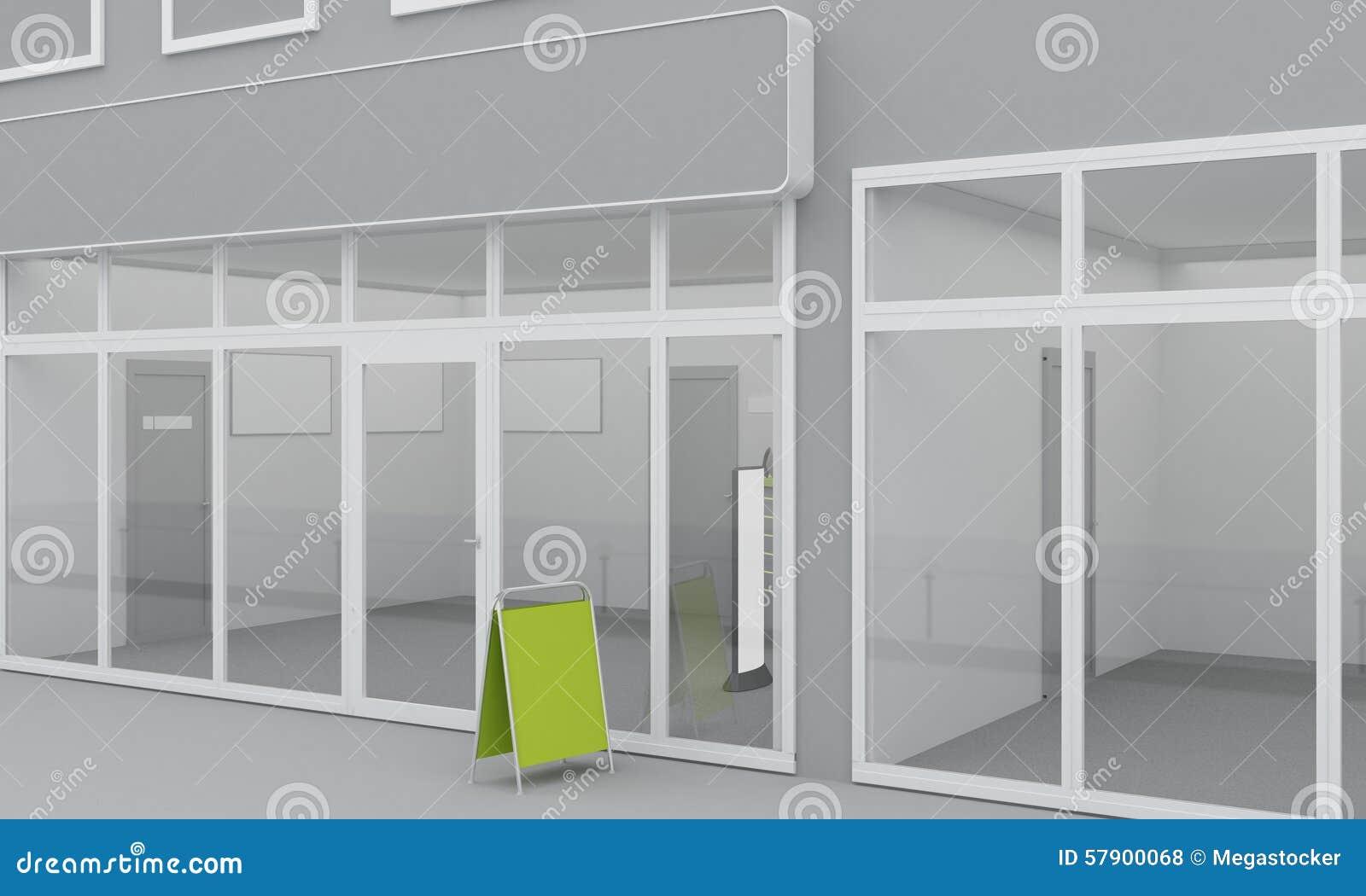 Illustrazione Della Facciata Dell 39 Ufficio O Del Negozio
