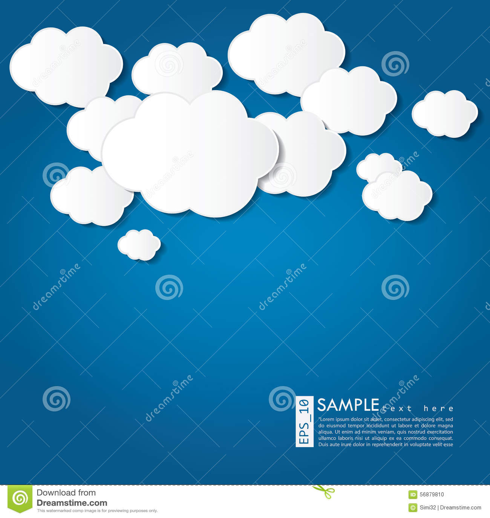 Illustrazione della nuvola - fondo di vettore