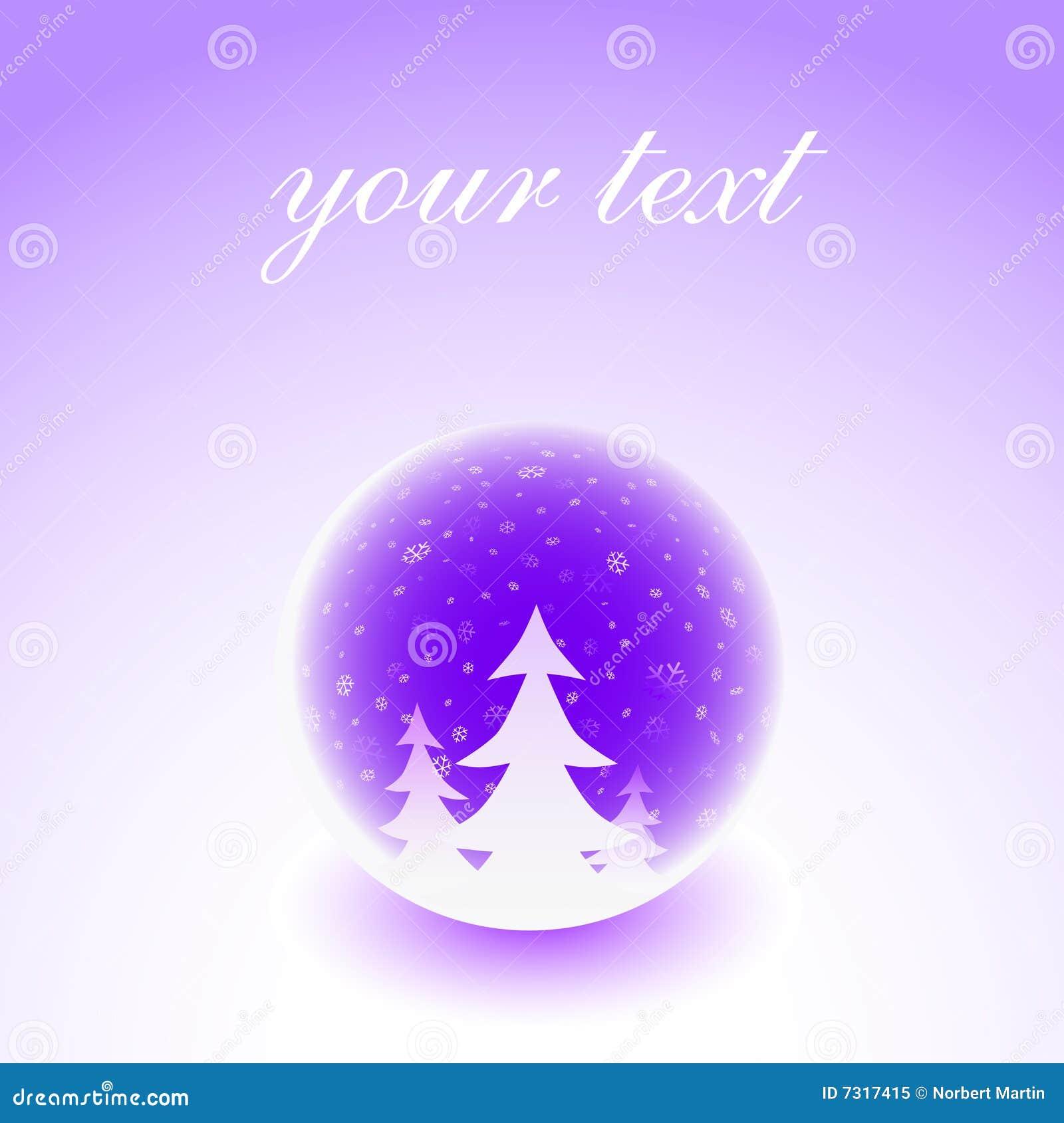 Illustrazione della sfera di inverno