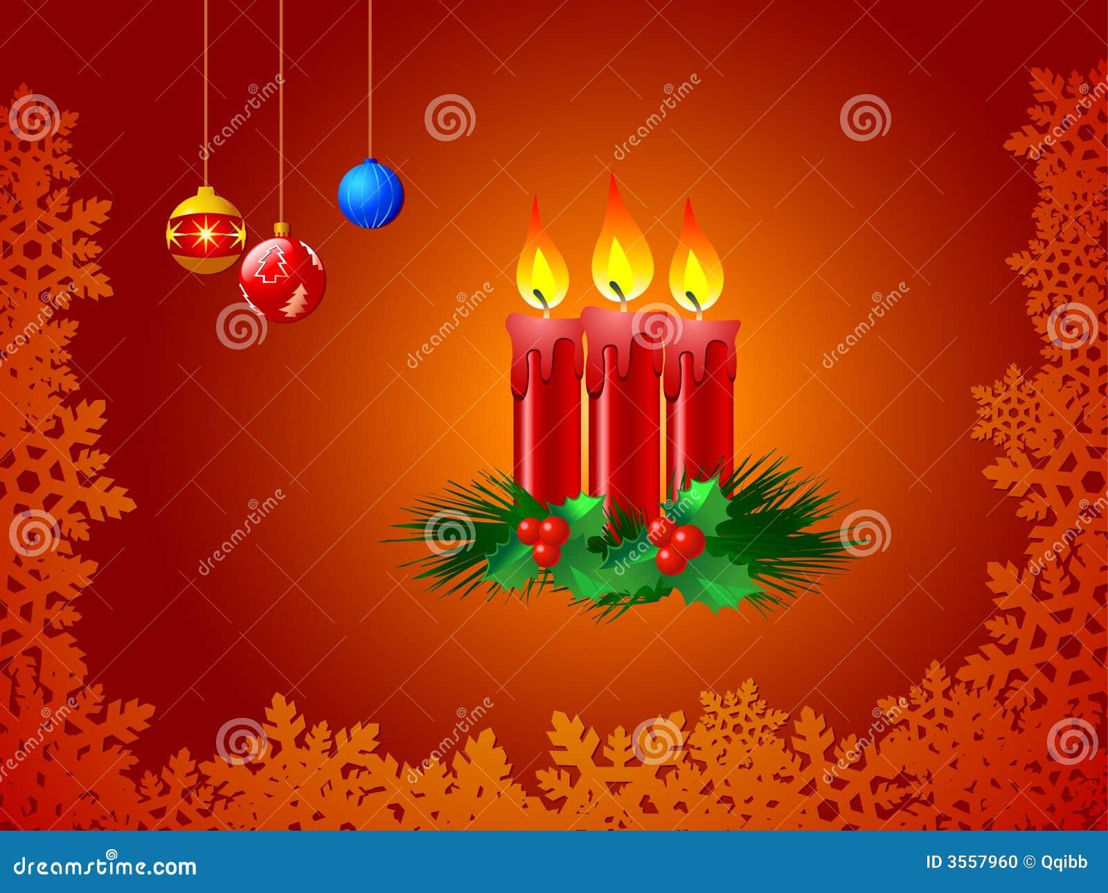 Illustrazione delle candele di natale