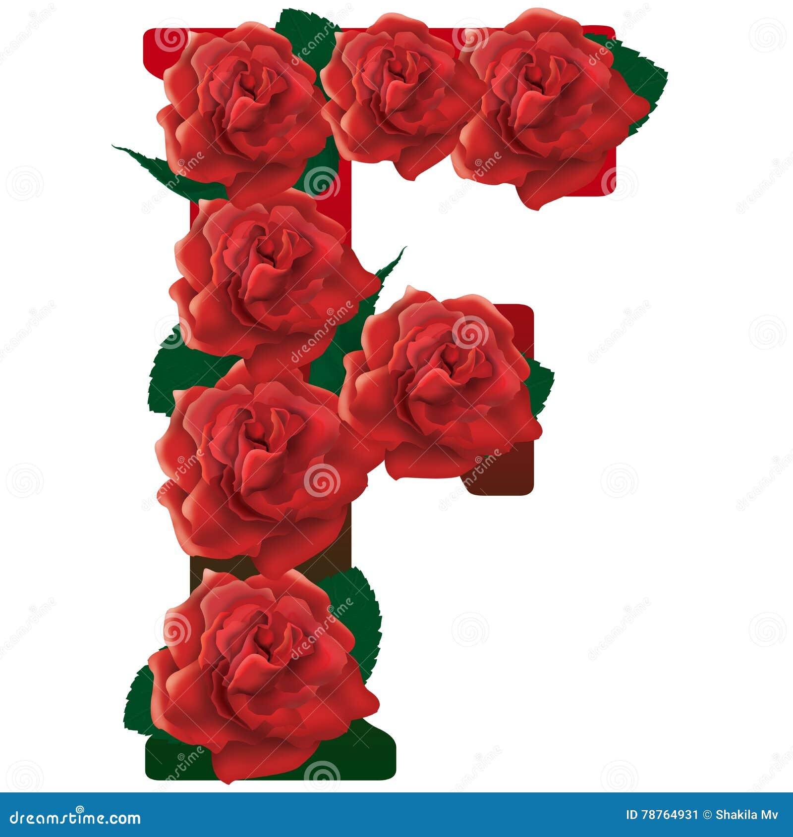 H Letter In Rose Illustrazione Delle Ro...