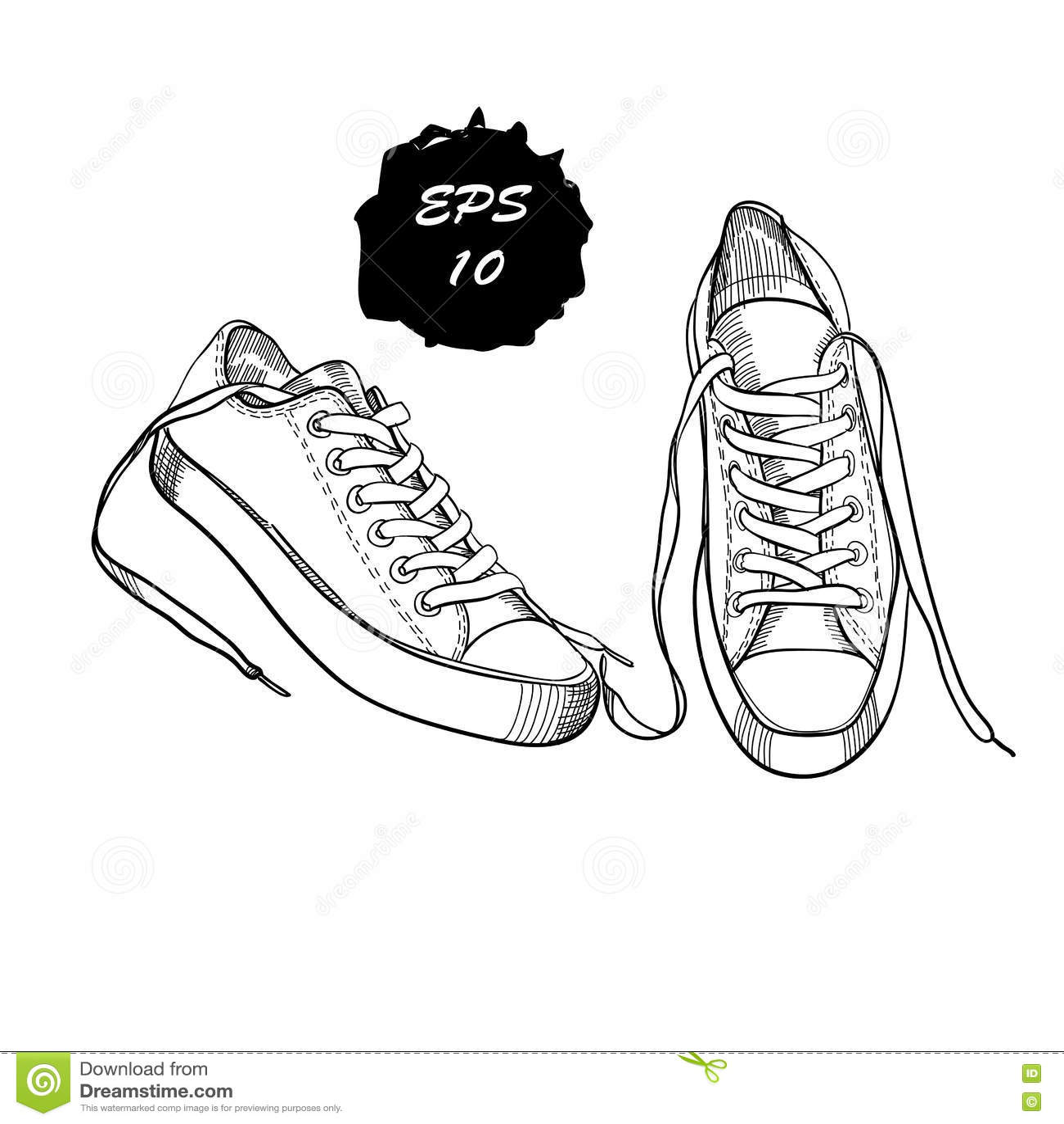 Illustrazione Scarpe Wonpk0 Di Delle Grafiche Disegnate Mano A Sport Ibf7yYv6g