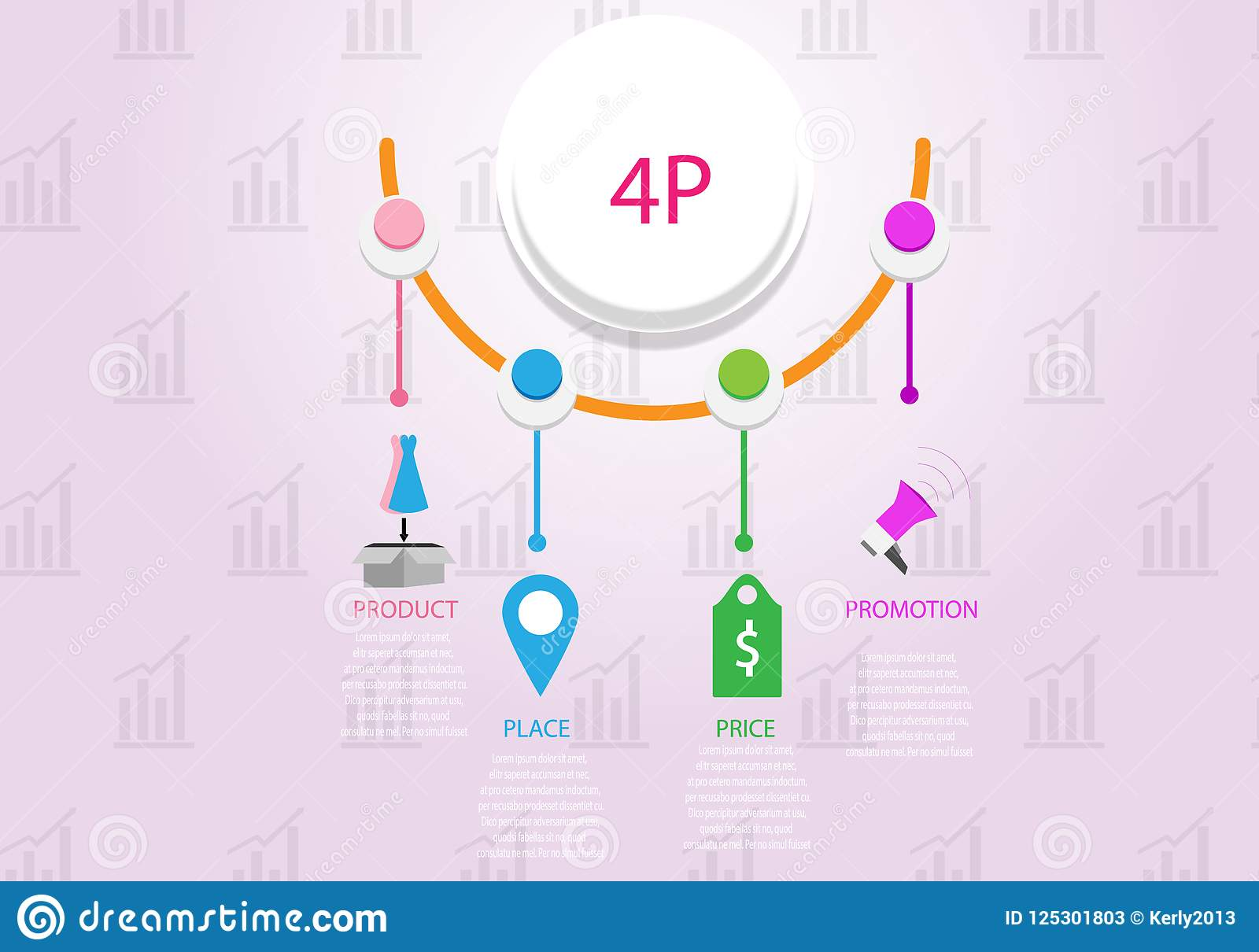 Illustrazione di base di vettore di concetto di infographics di vendita