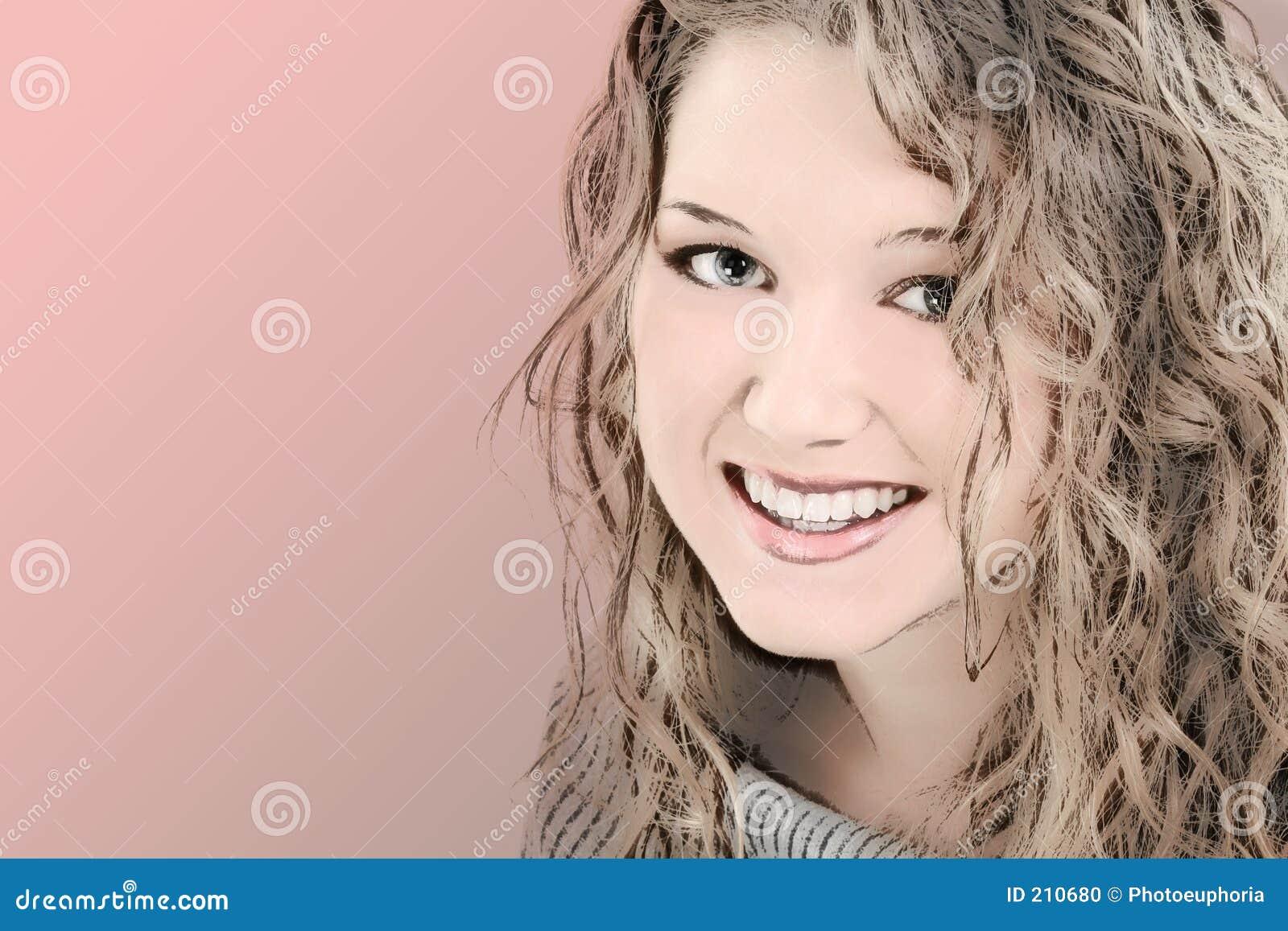 Illustrazione di bella ragazza teenager di 16 anni