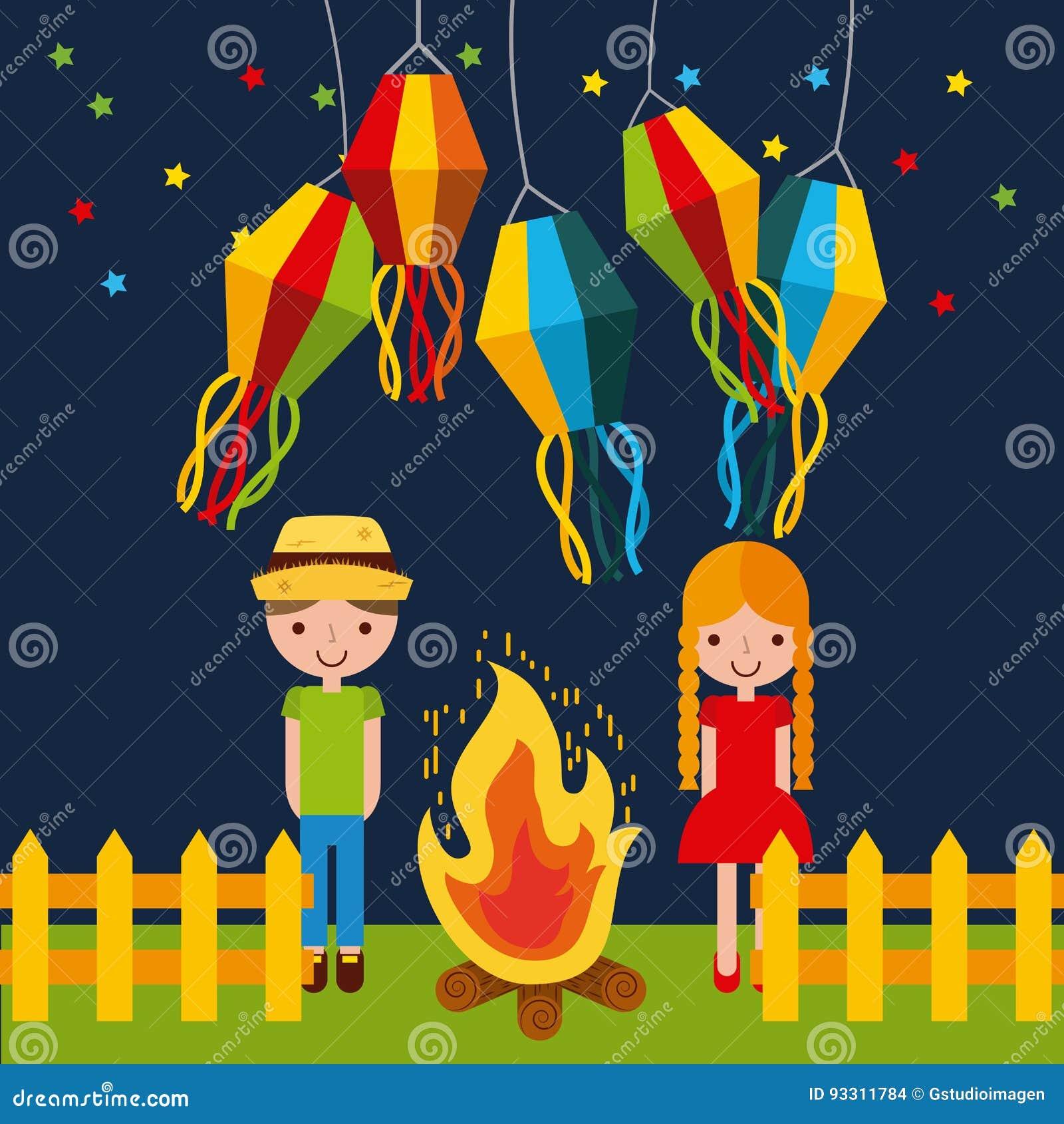Illustrazione di giugno di festività