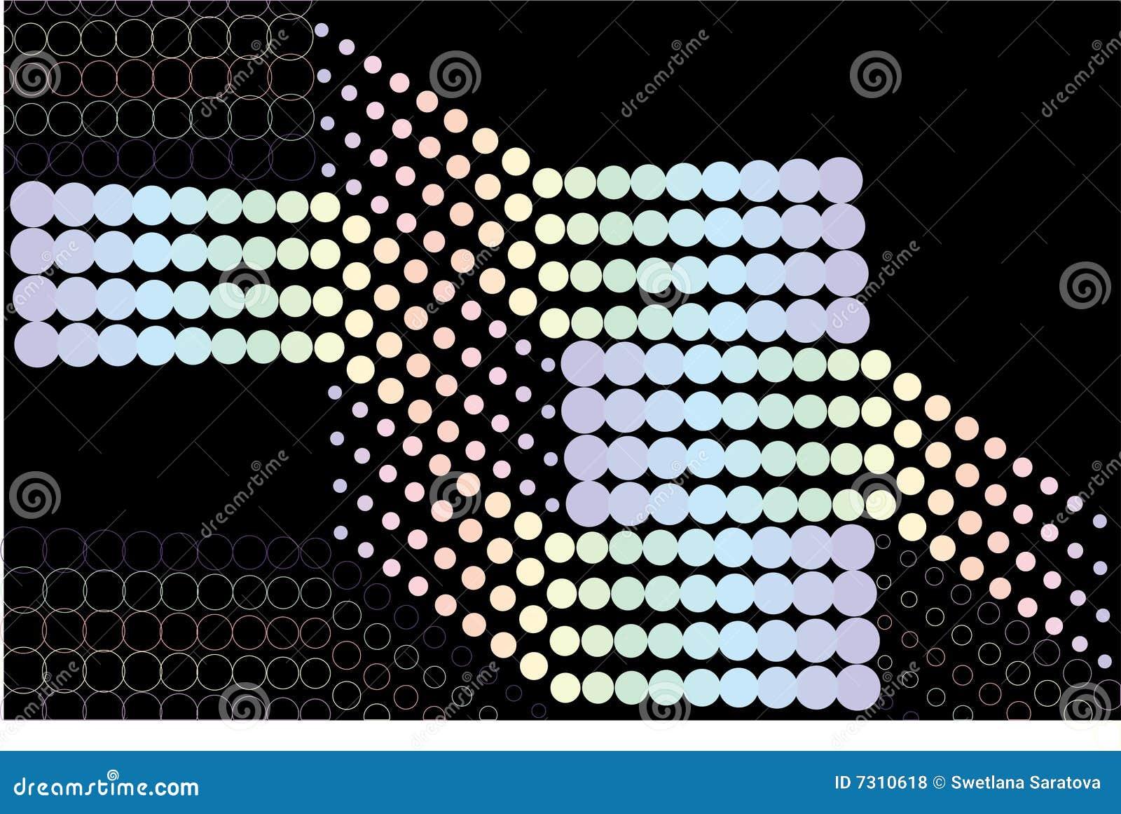 Illustrazione di immagini di vettore della maschera del puntino.