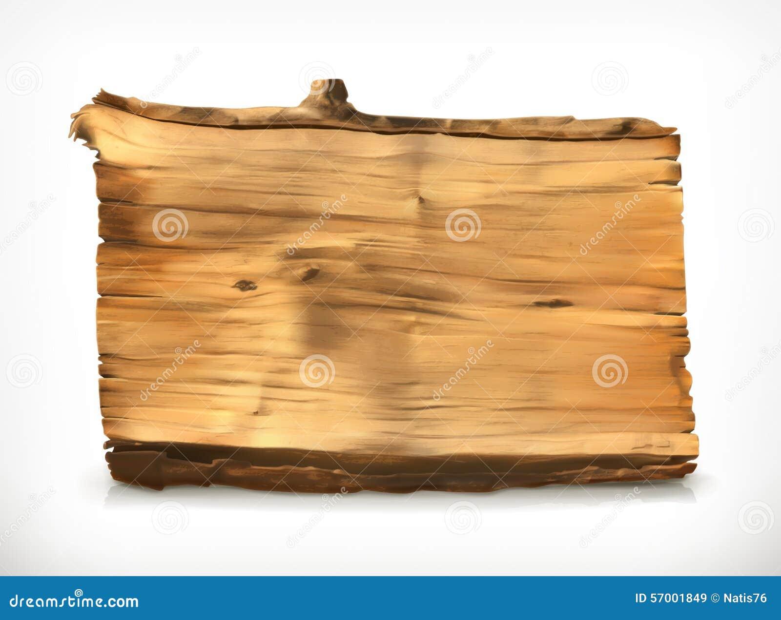 Illustrazione di legno di vettore dell insegna