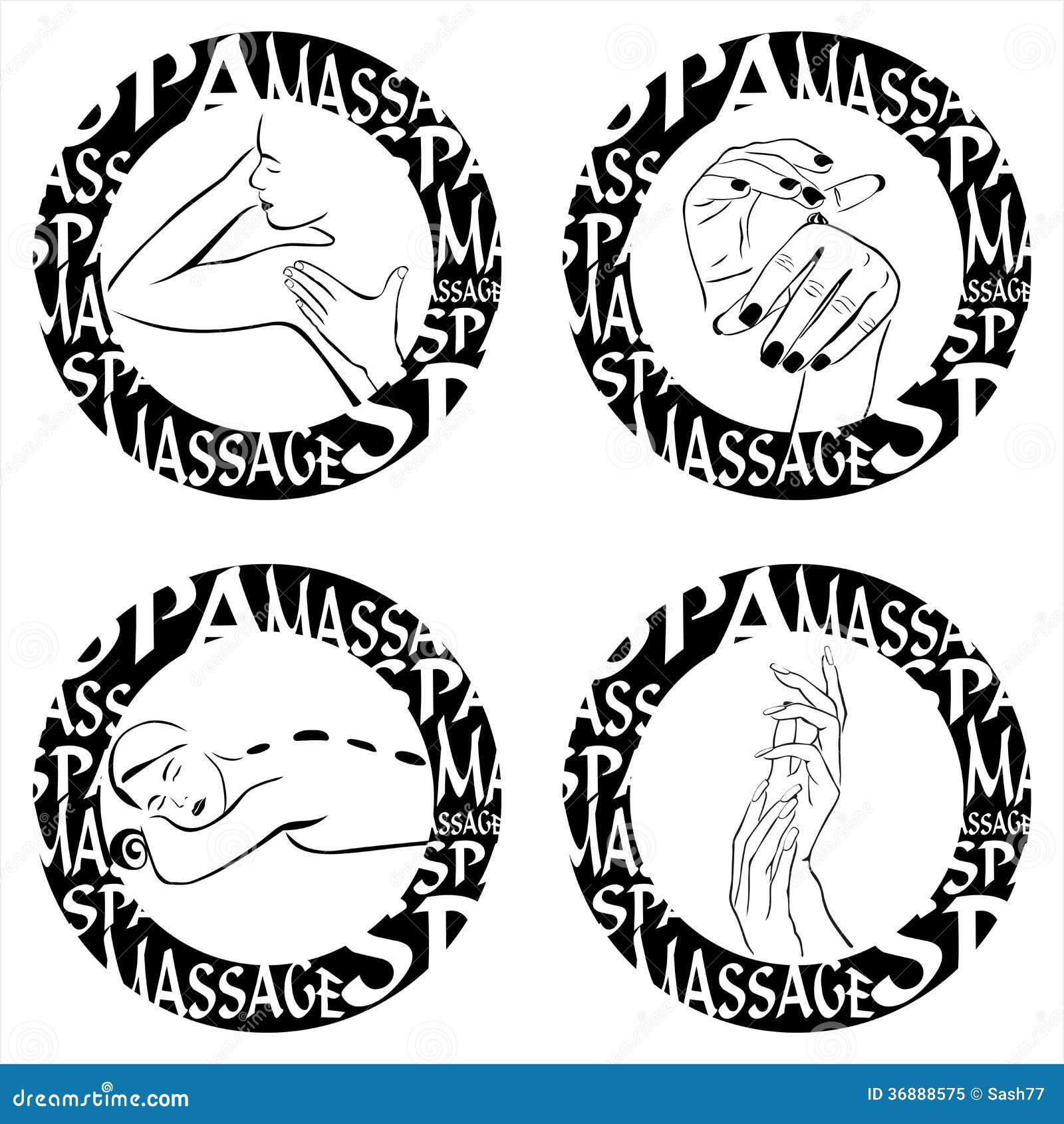 Download Illustrazione di massaggio illustrazione vettoriale. Illustrazione di icona - 36888575