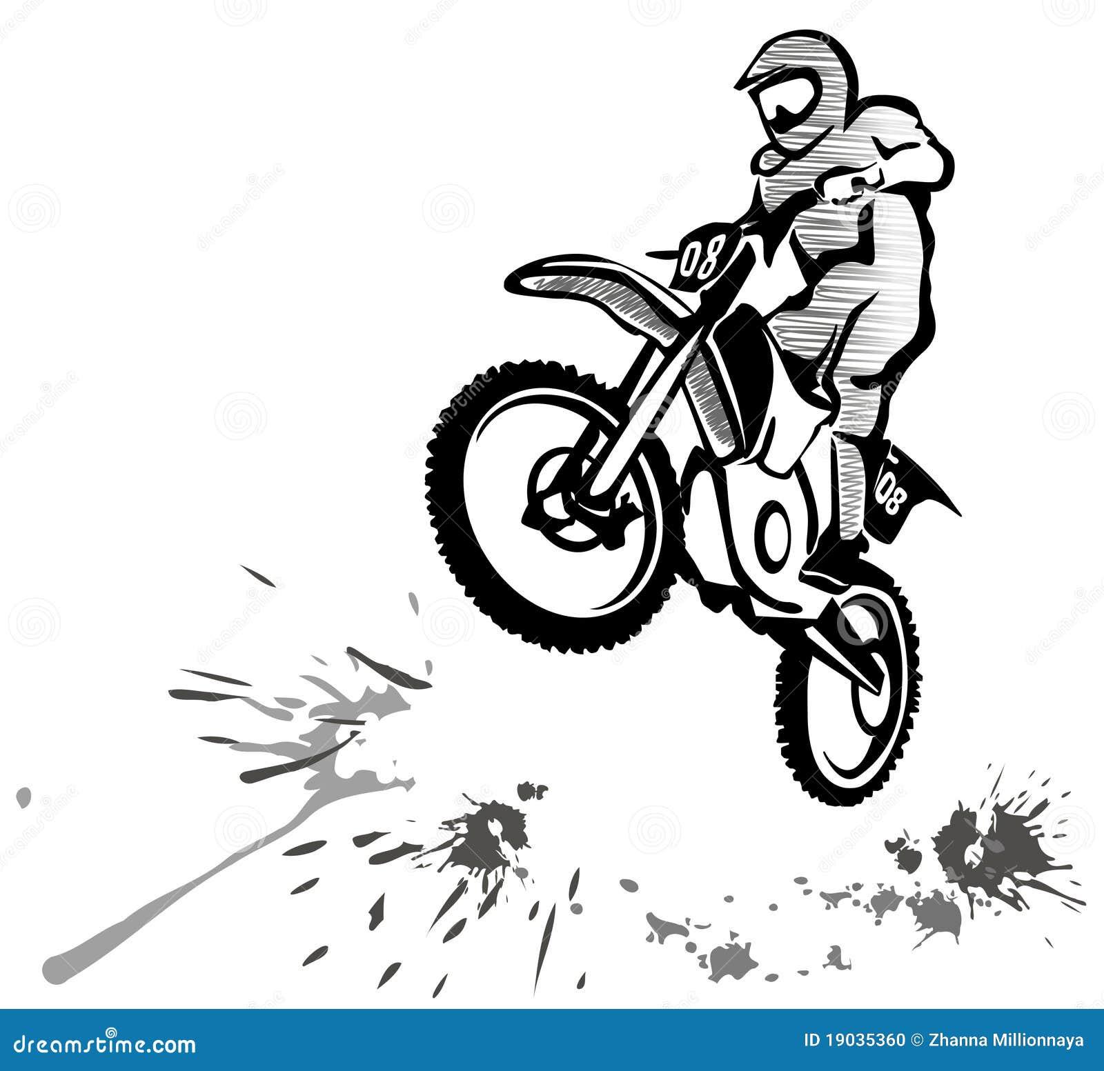 Illustrazione Di Motocross Illustrazione Vettoriale