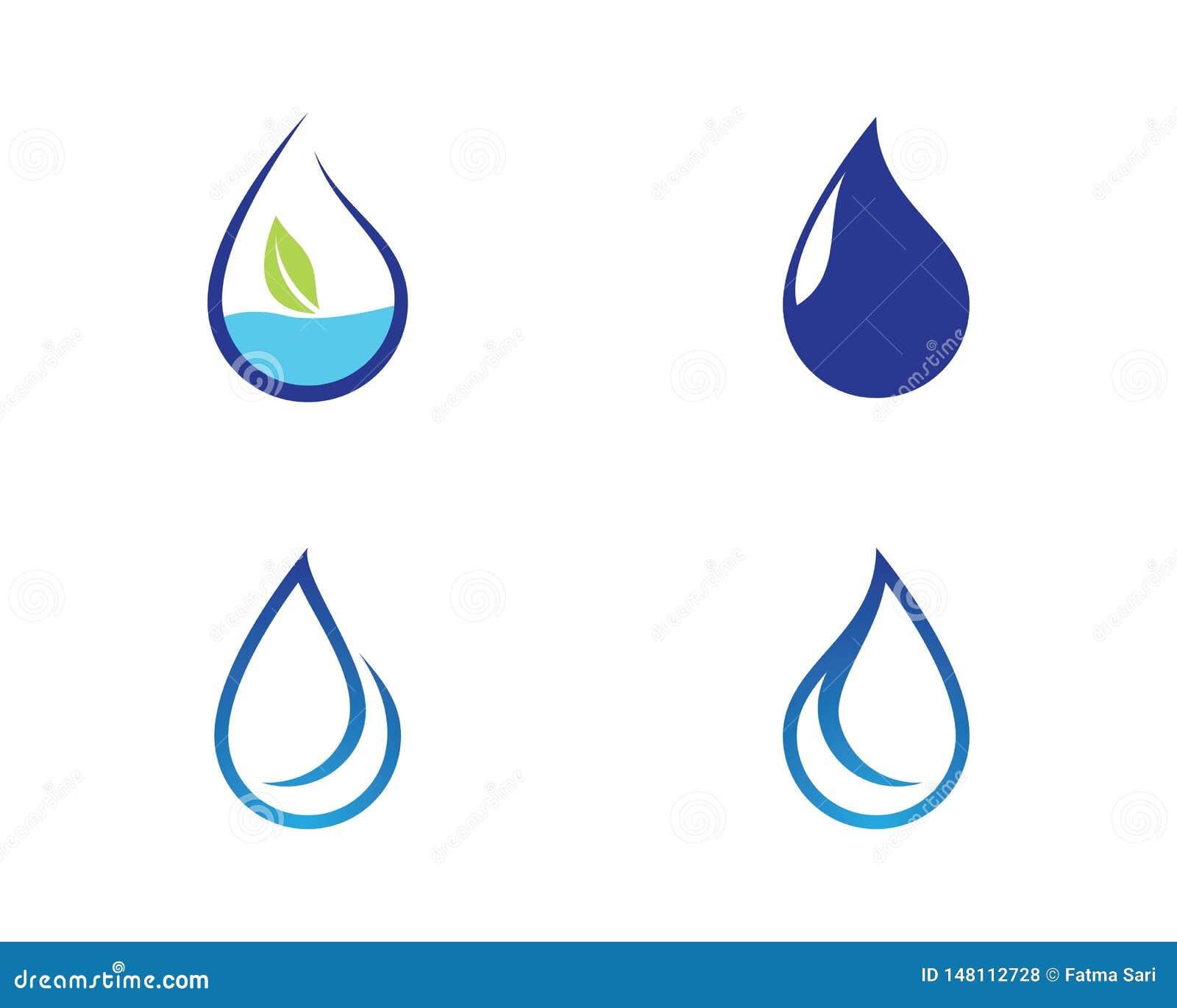 Illustrazione di simbolo della goccia di acqua