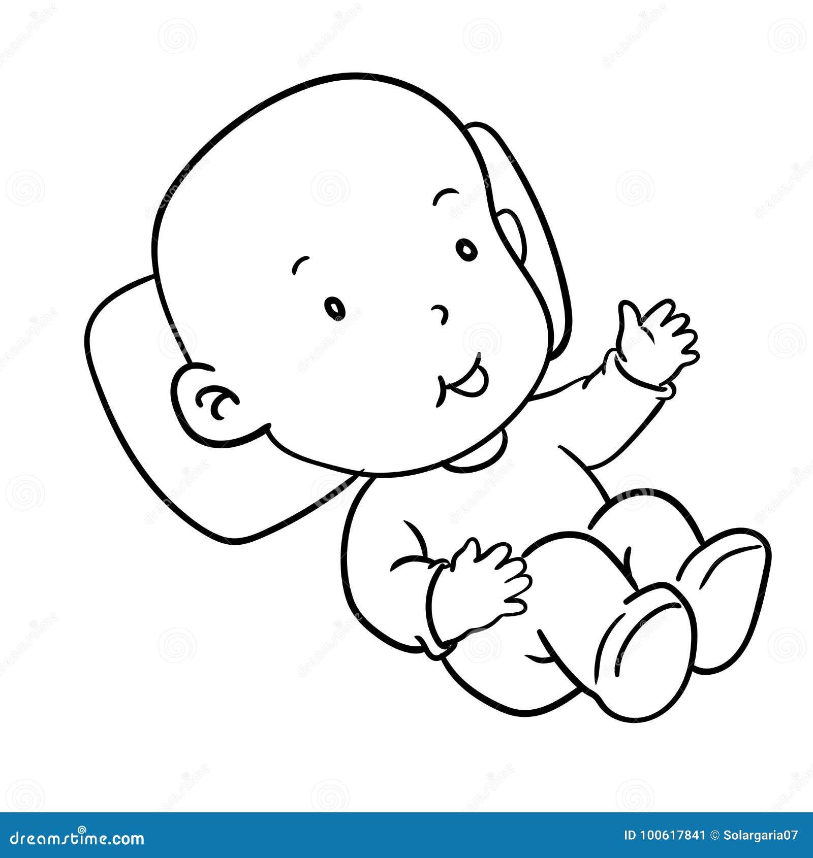 Illustrazione Di Sorridere Vettore Del Bambino Del Disegno Della