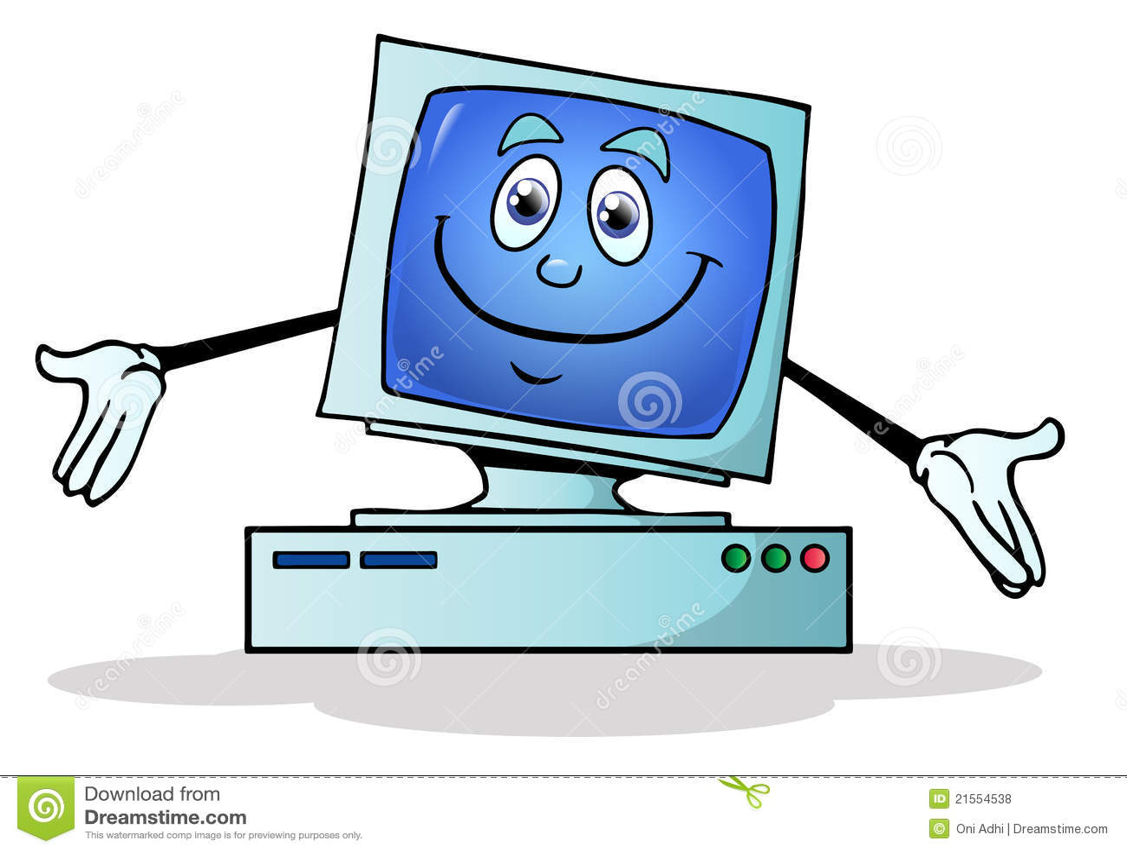 Illustrazione di un calcolatore felice