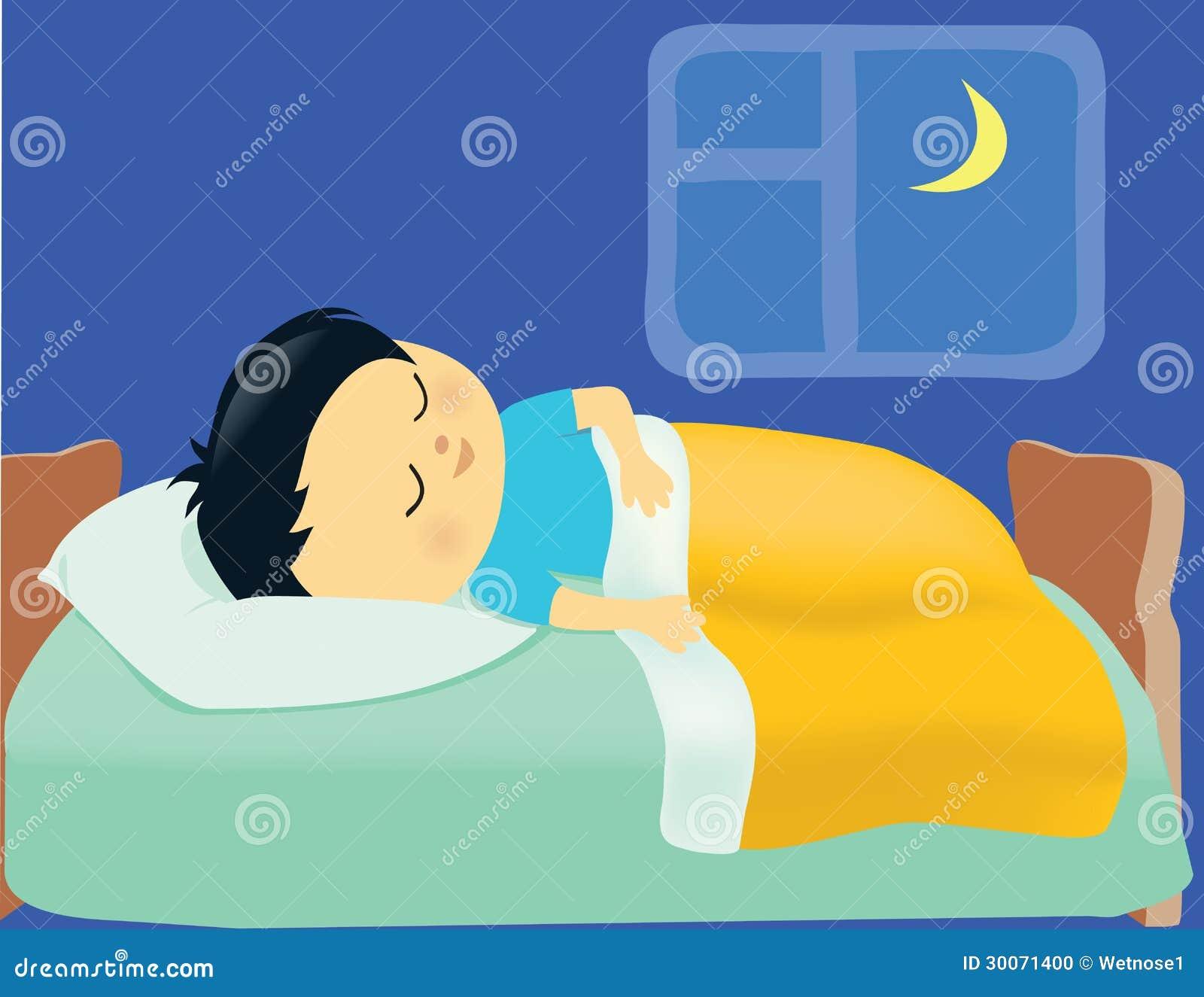 Sonno del ragazzo fotografia stock immagine 30071400 - Sognare cacca nel letto ...