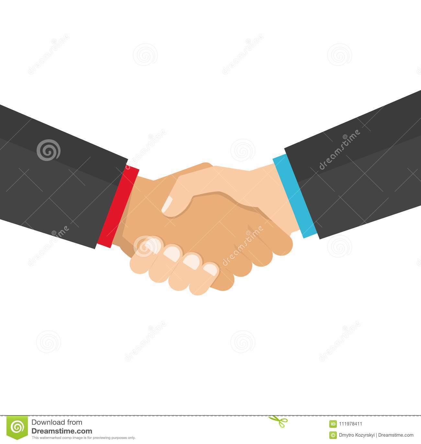 Illustrazione di vettore di affari della stretta di mano, simbolo dell affare di successo, accordo, buon affare, associazione fel