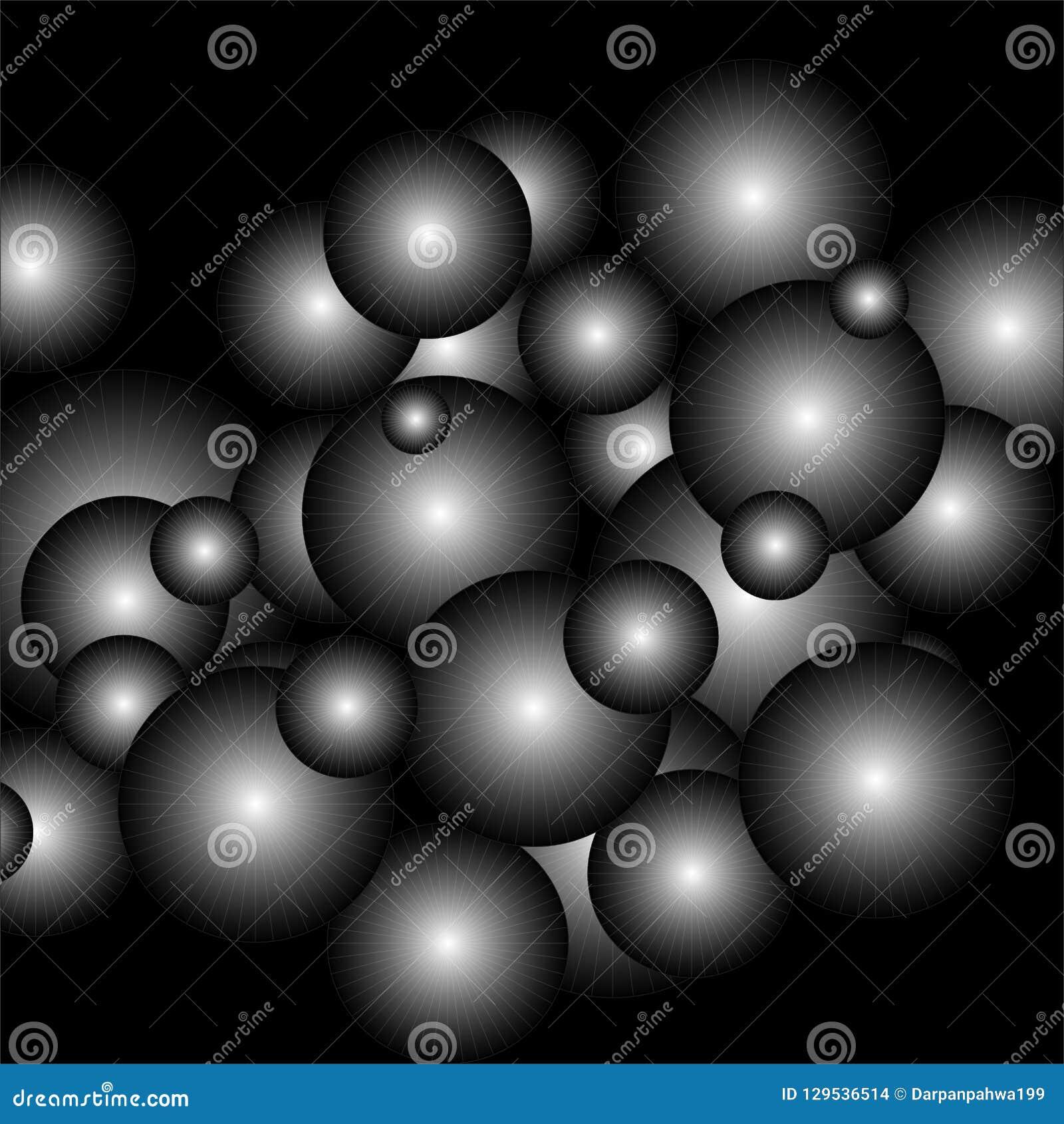 Illustrazione di vettore degli atomi nella gradazione di grigio