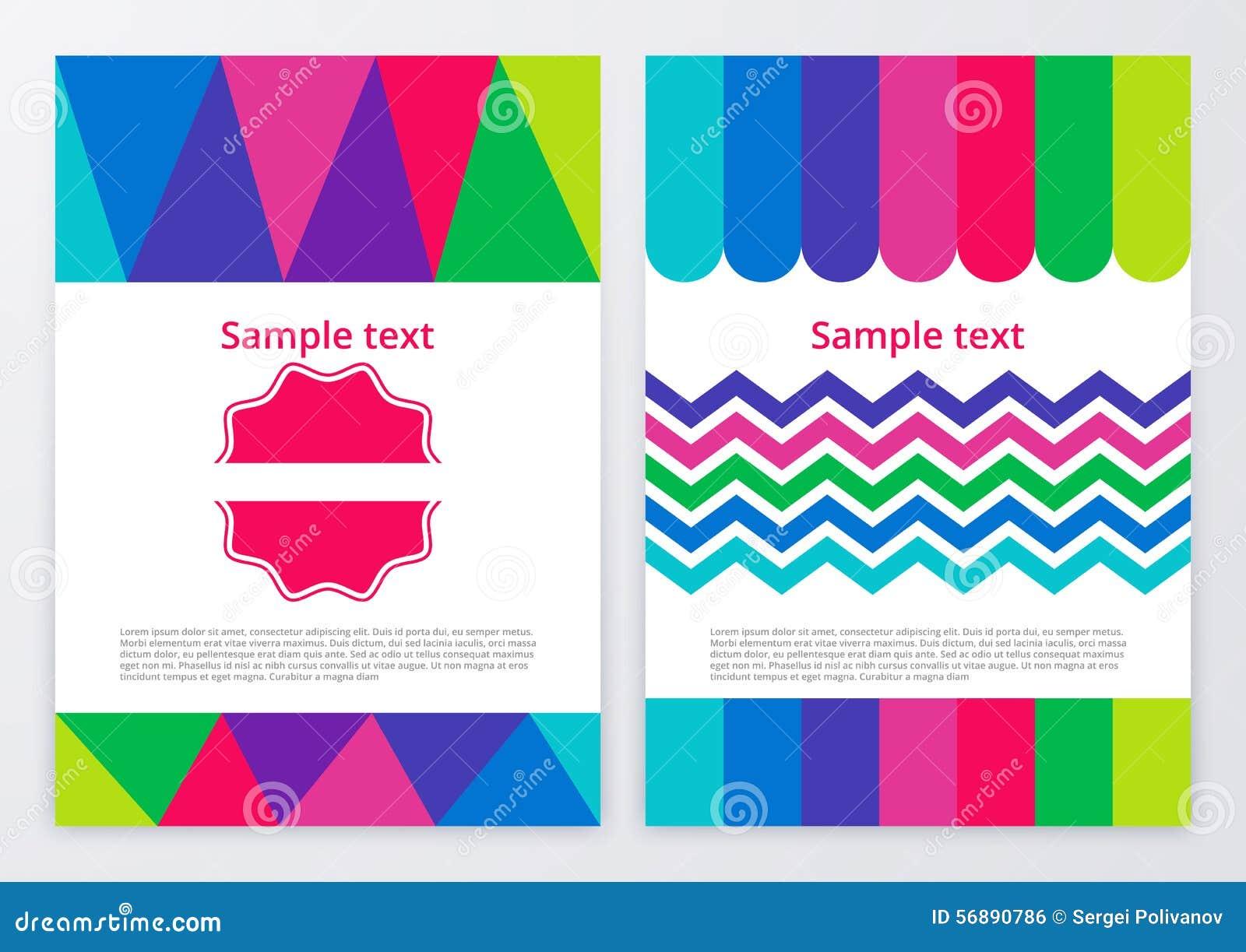Illustrazione di vettore degli opuscoli di colore