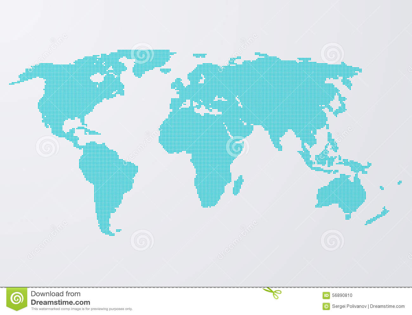 Illustrazione di vettore dei cerchi di una mappa di mondo
