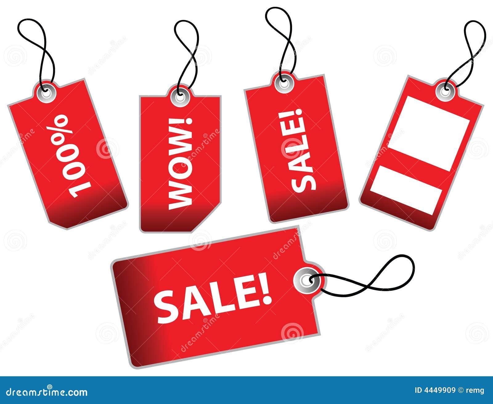 Illustrazione di vettore dei contrassegni di vendita