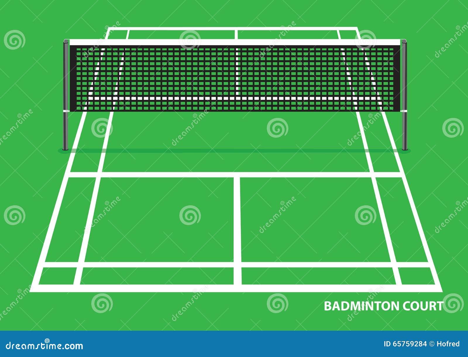 Illustrazione di vettore del campo da badminton for Taille court de tennis