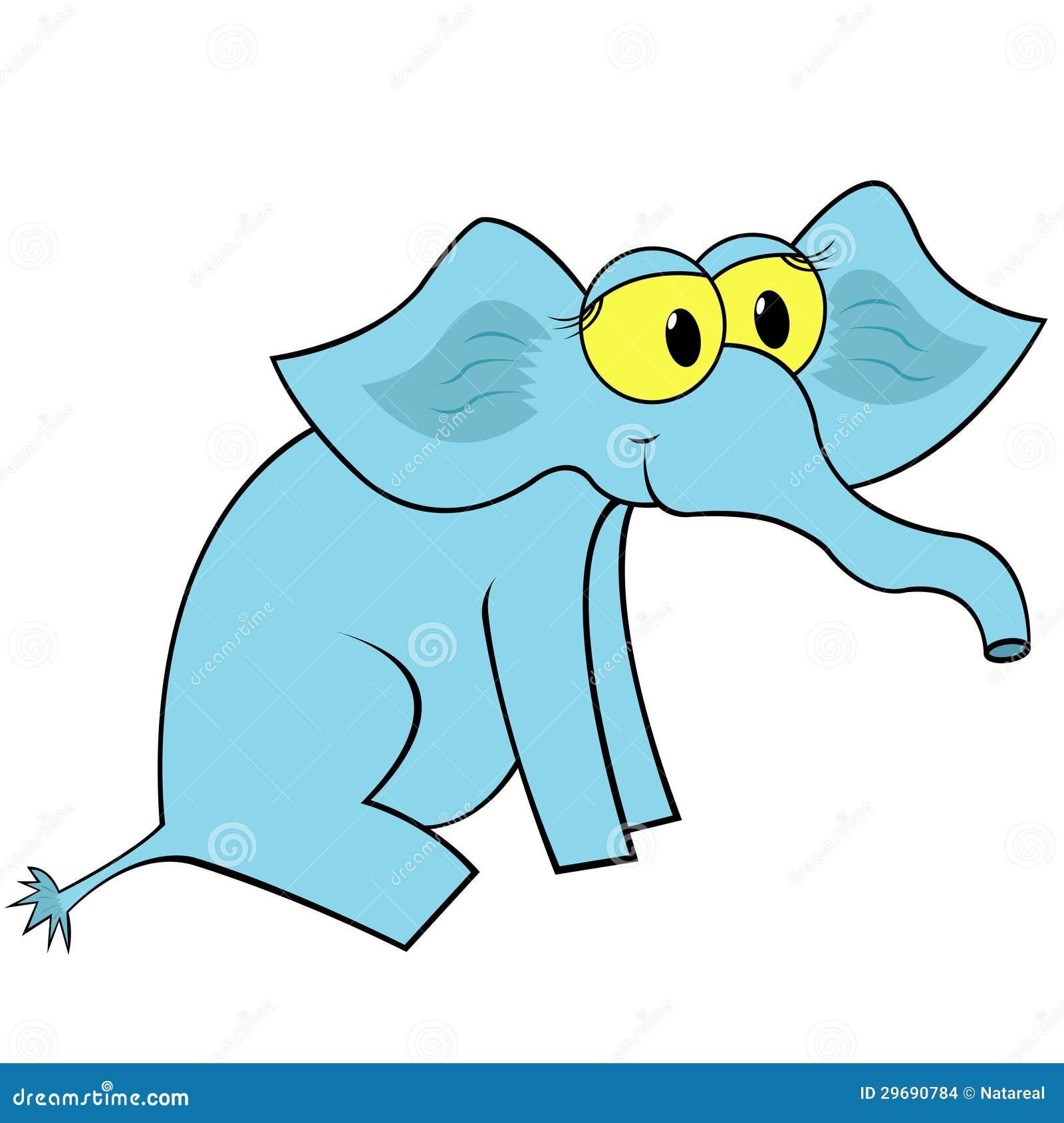 Illustrazione di vettore del fumetto dell elefante