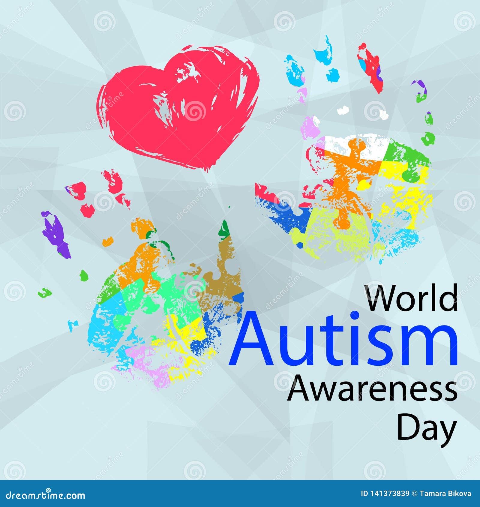 Illustrazione di vettore del giorno di consapevolezza di autismo del mondo