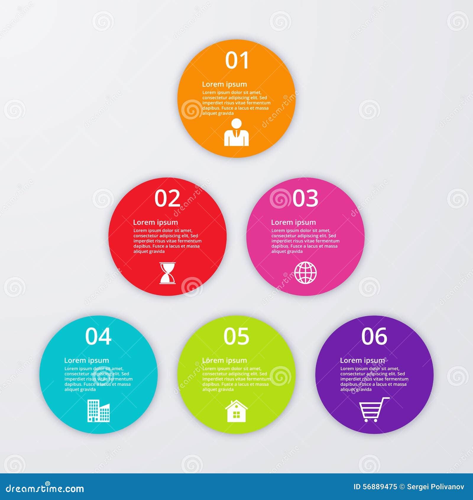 Illustrazione di vettore del infographics dei cerchi