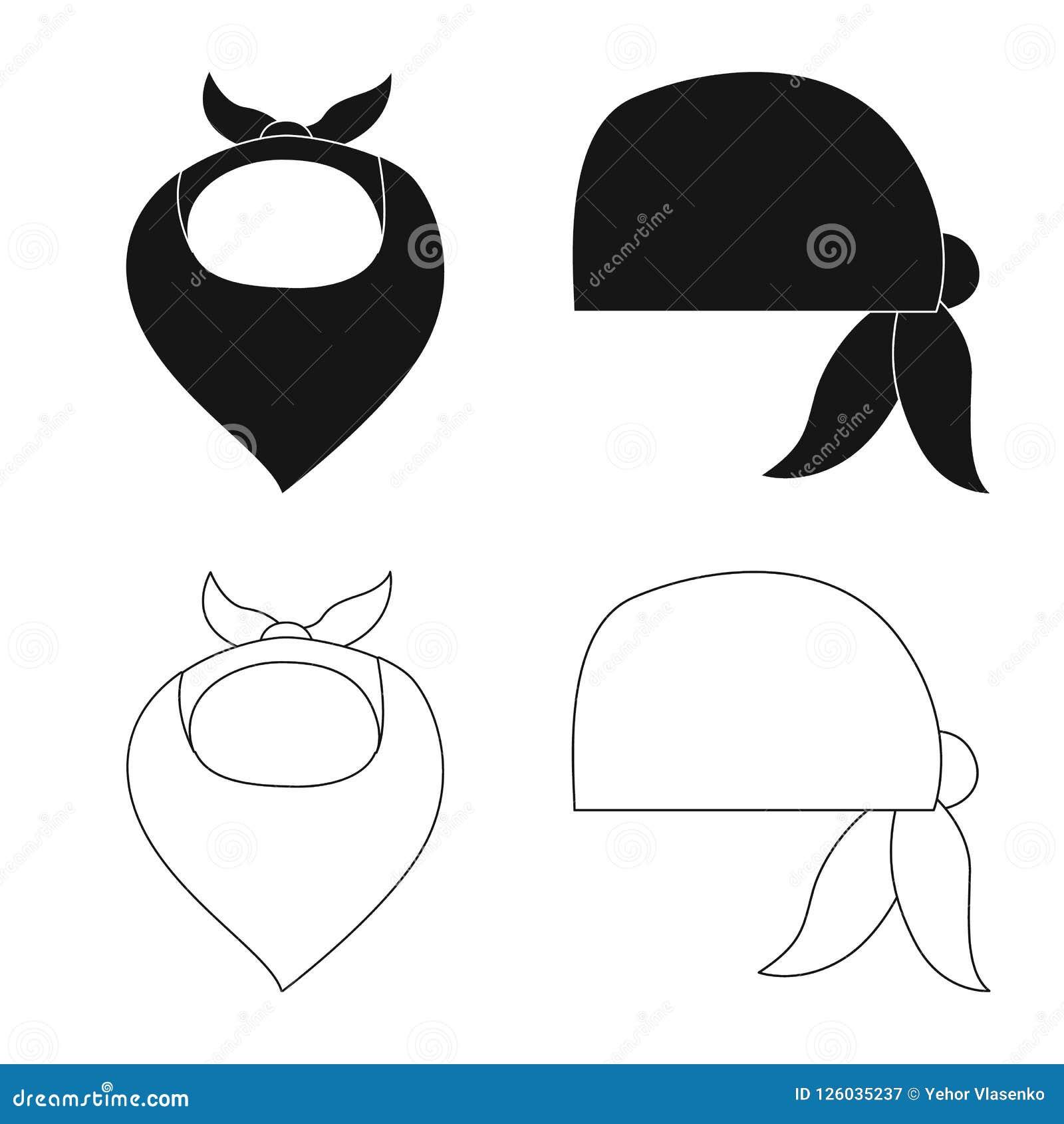 Illustrazione di vettore del logo dello scialle e della sciarpa Insieme dell illustrazione di riserva di vettore dell accessorio