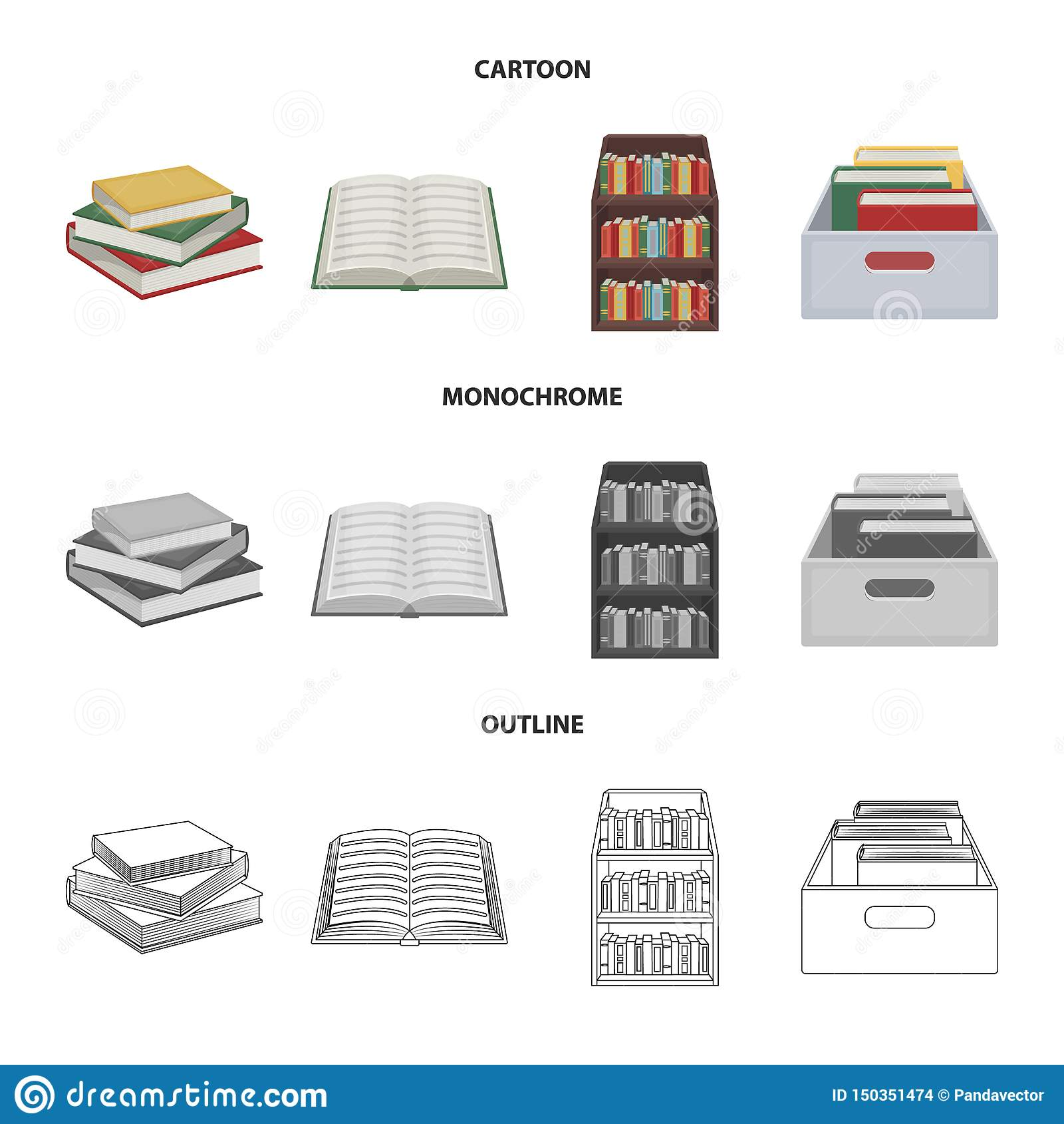 Illustrazione di vettore del logo del manuale e delle biblioteche Metta dell icona di vettore della scuola e delle biblioteche pe