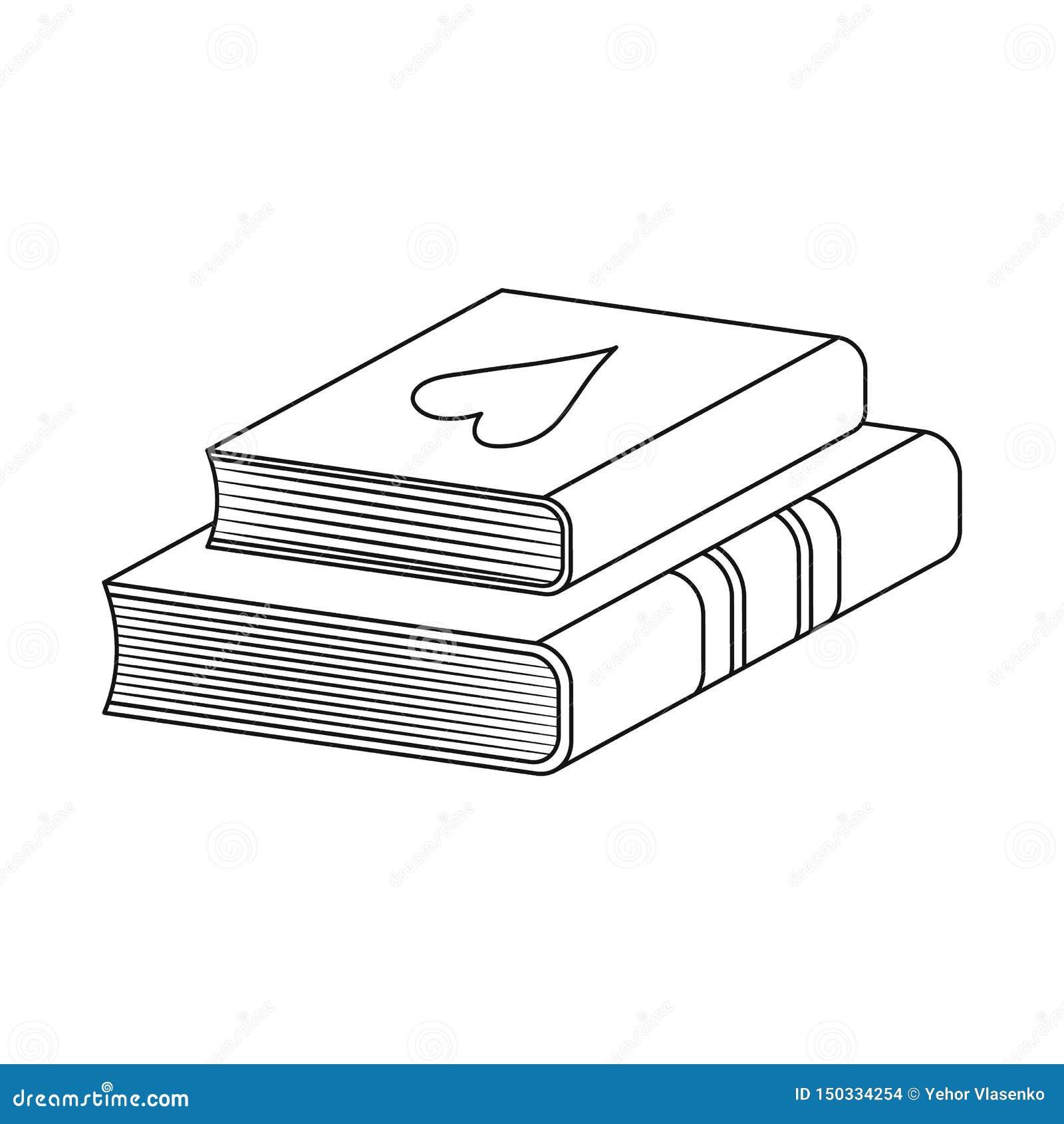 Illustrazione di vettore del manuale e del logo di apprendimento r