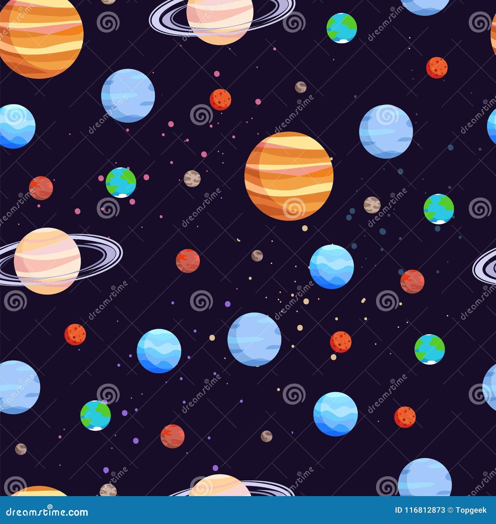 Illustrazione di vettore del modello dei pianeti e dello spazio