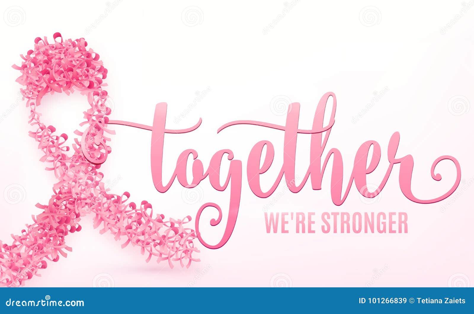Illustrazione di vettore del nastro del cancro al seno