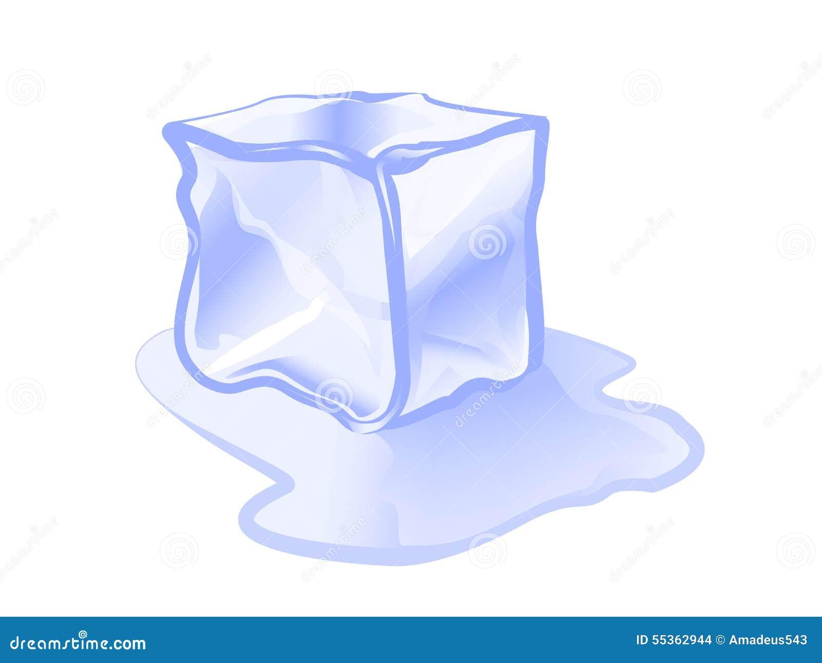 Illustrazione di vettore dell icona del blocco di ghiaccio del cubetto di ghiaccio