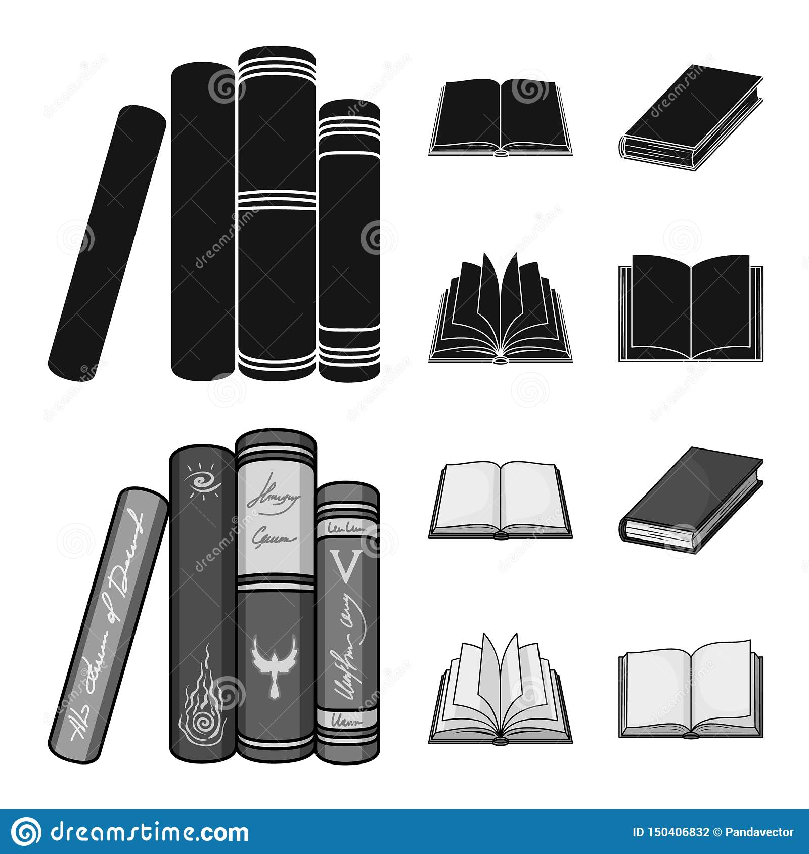 Illustrazione di vettore dell icona del manuale e delle biblioteche Raccolta del simbolo di riserva della scuola e delle bibliote