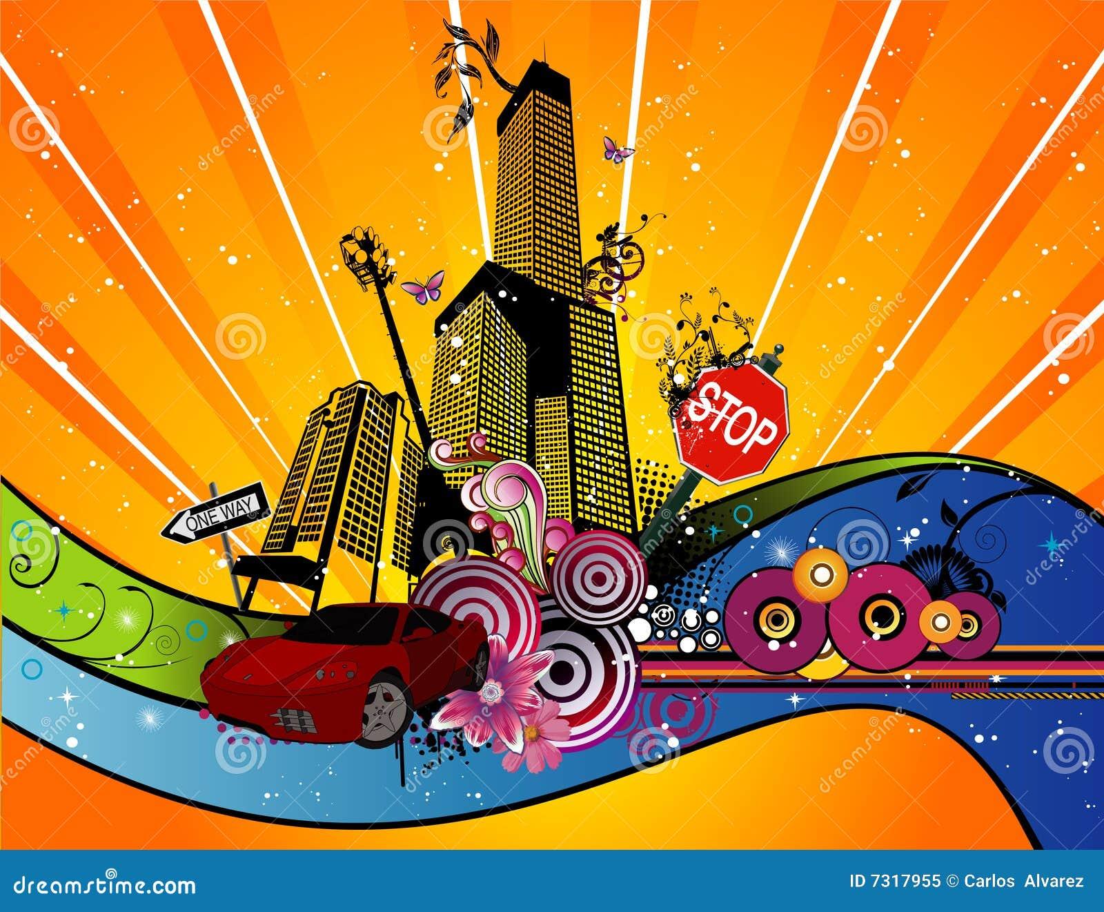 Illustrazione di vettore della città