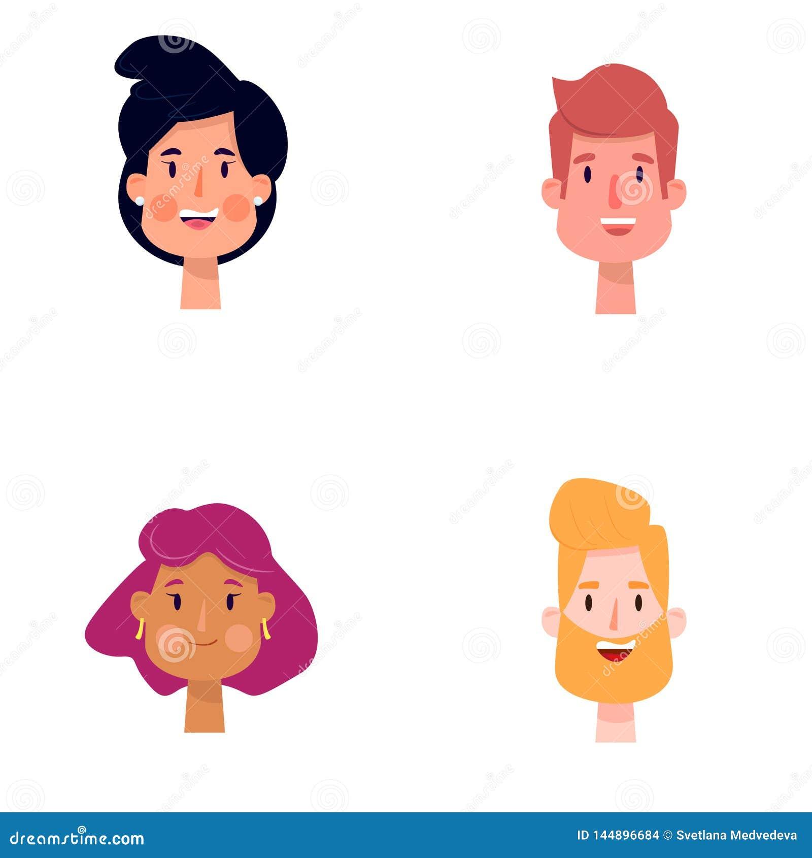Illustrazione di vettore della gente del fumetto
