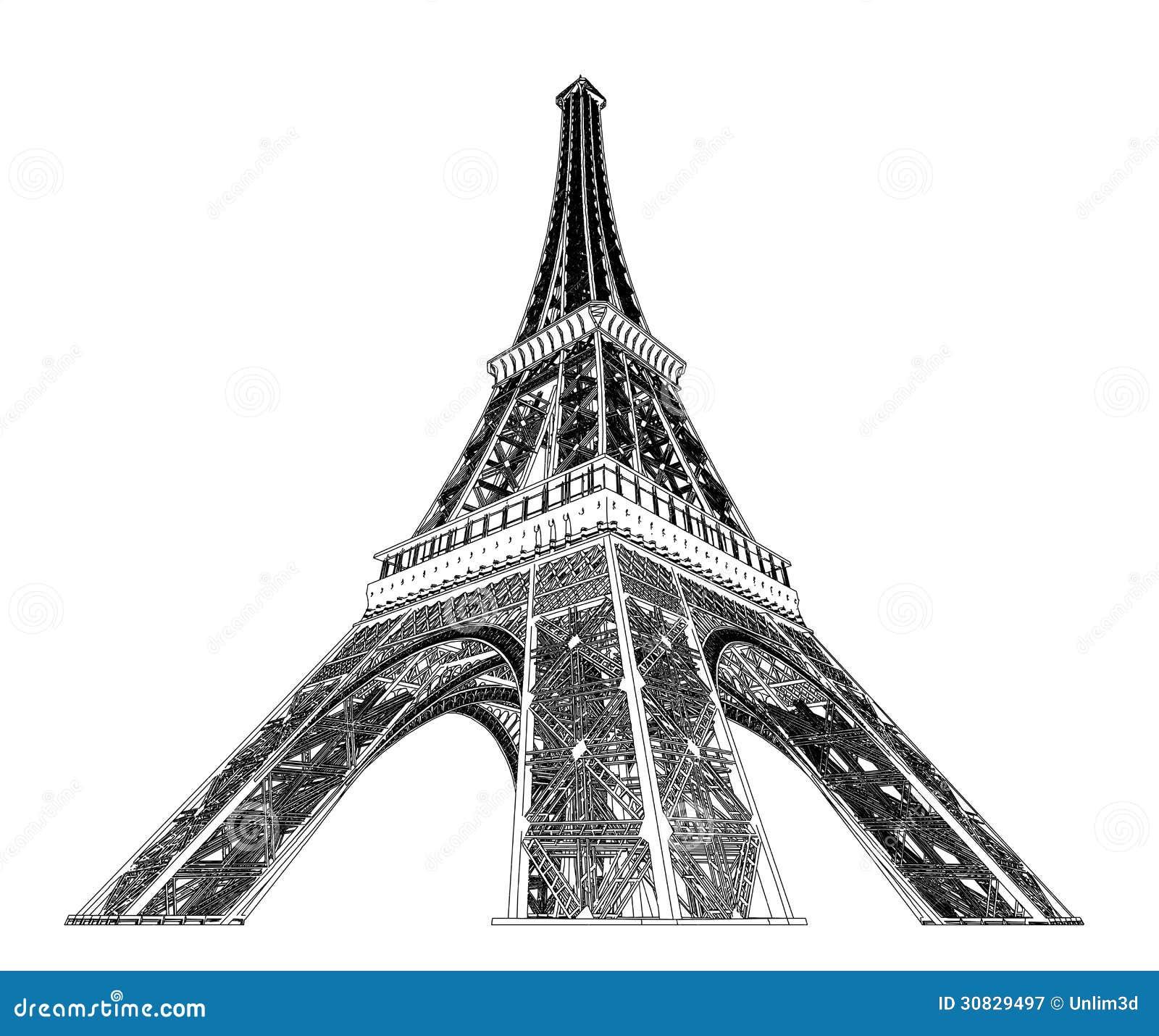 Illustrazione di vettore della torre Eiffel