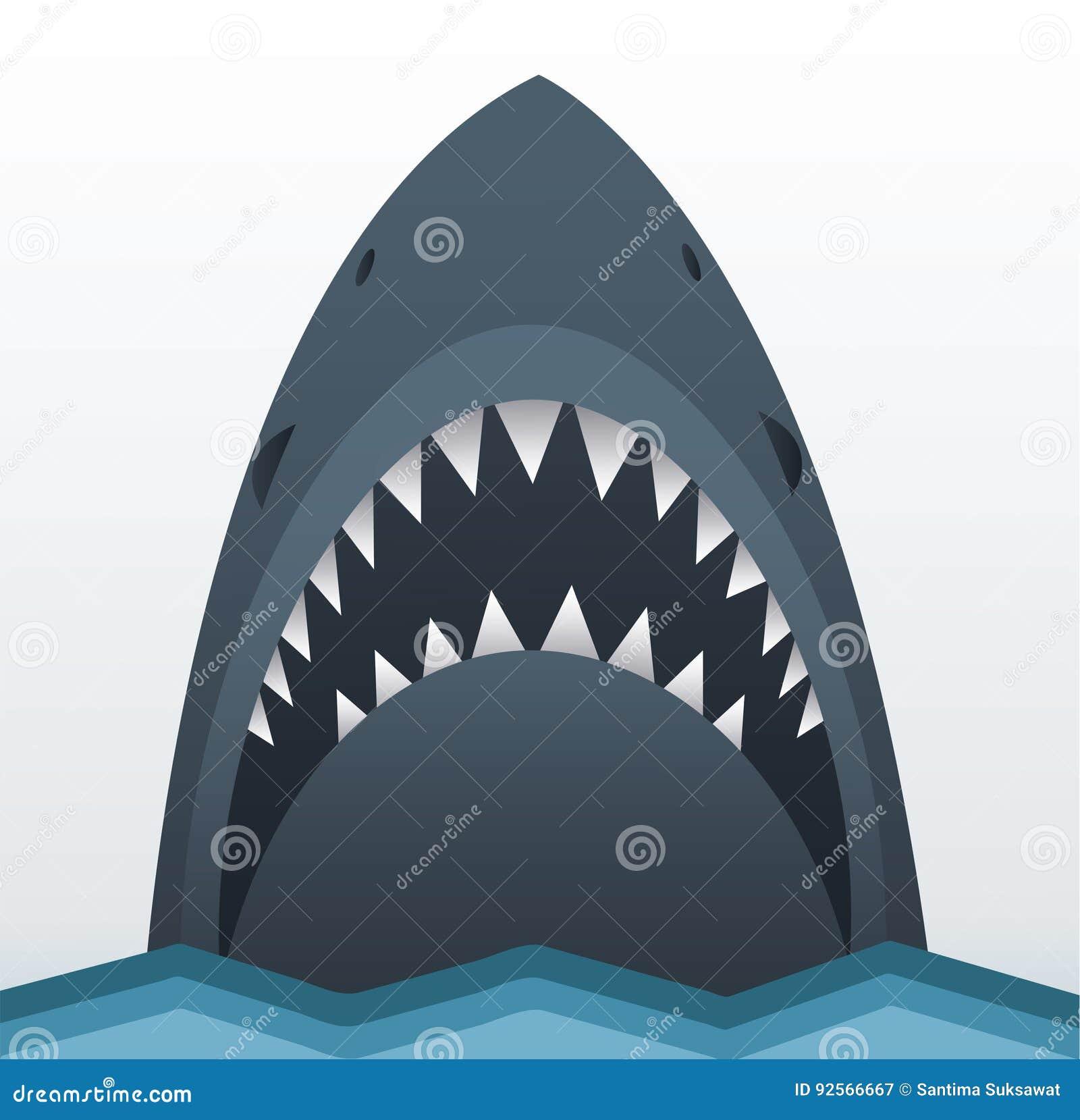 Illustrazione di vettore dello squalo