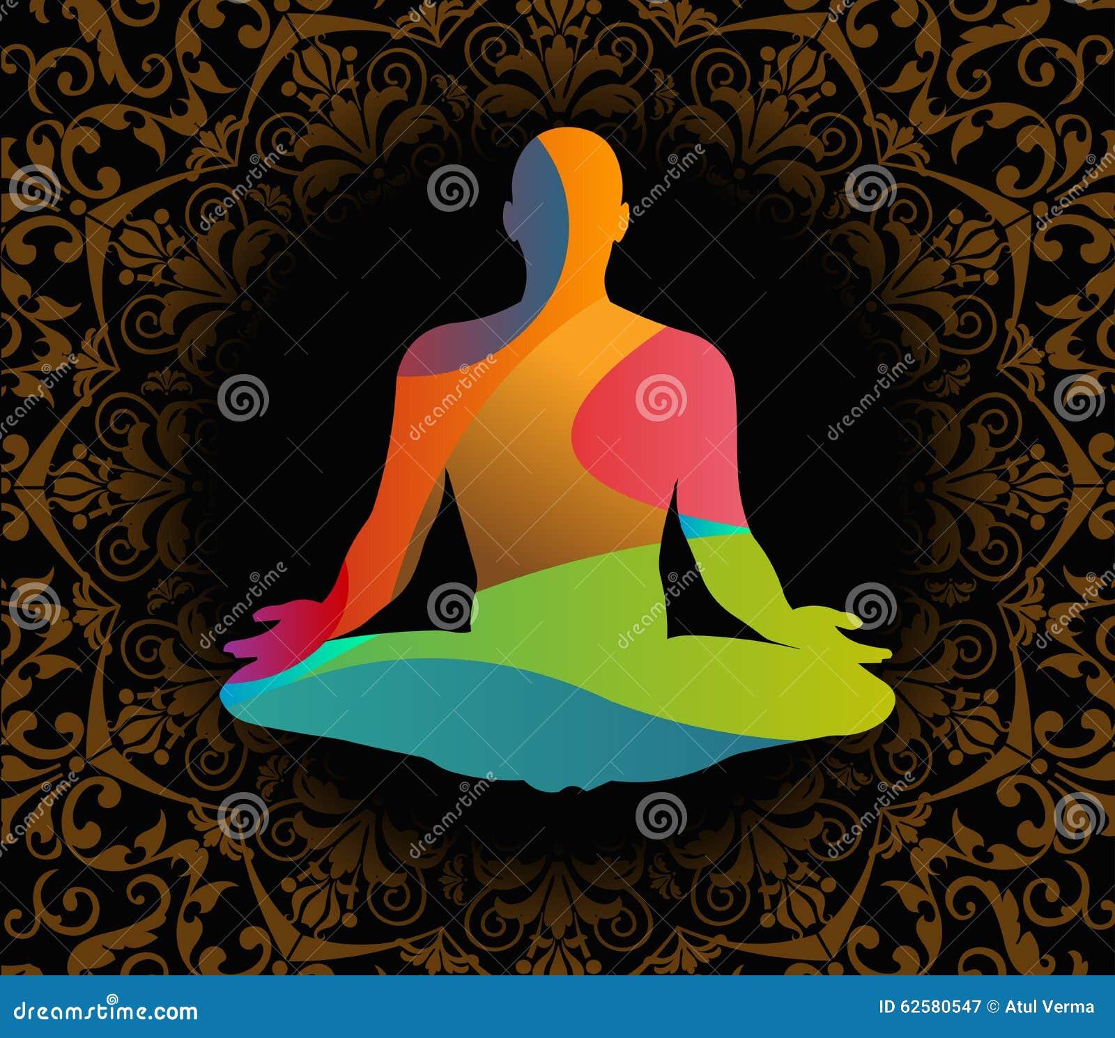 Illustrazione di vettore di giorno di yoga del mondo, fondo del modello