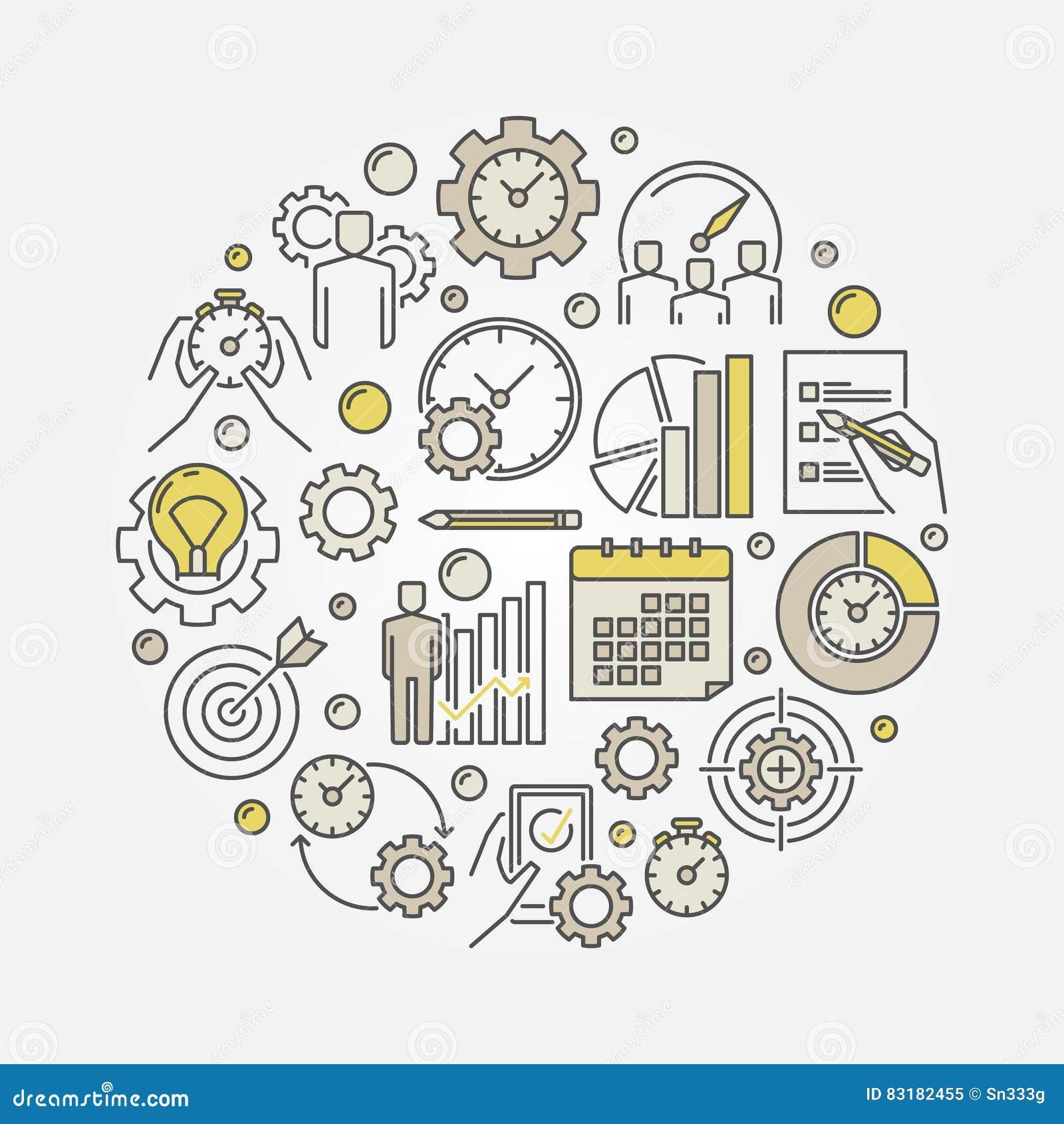 Illustrazione di vettore di produttività