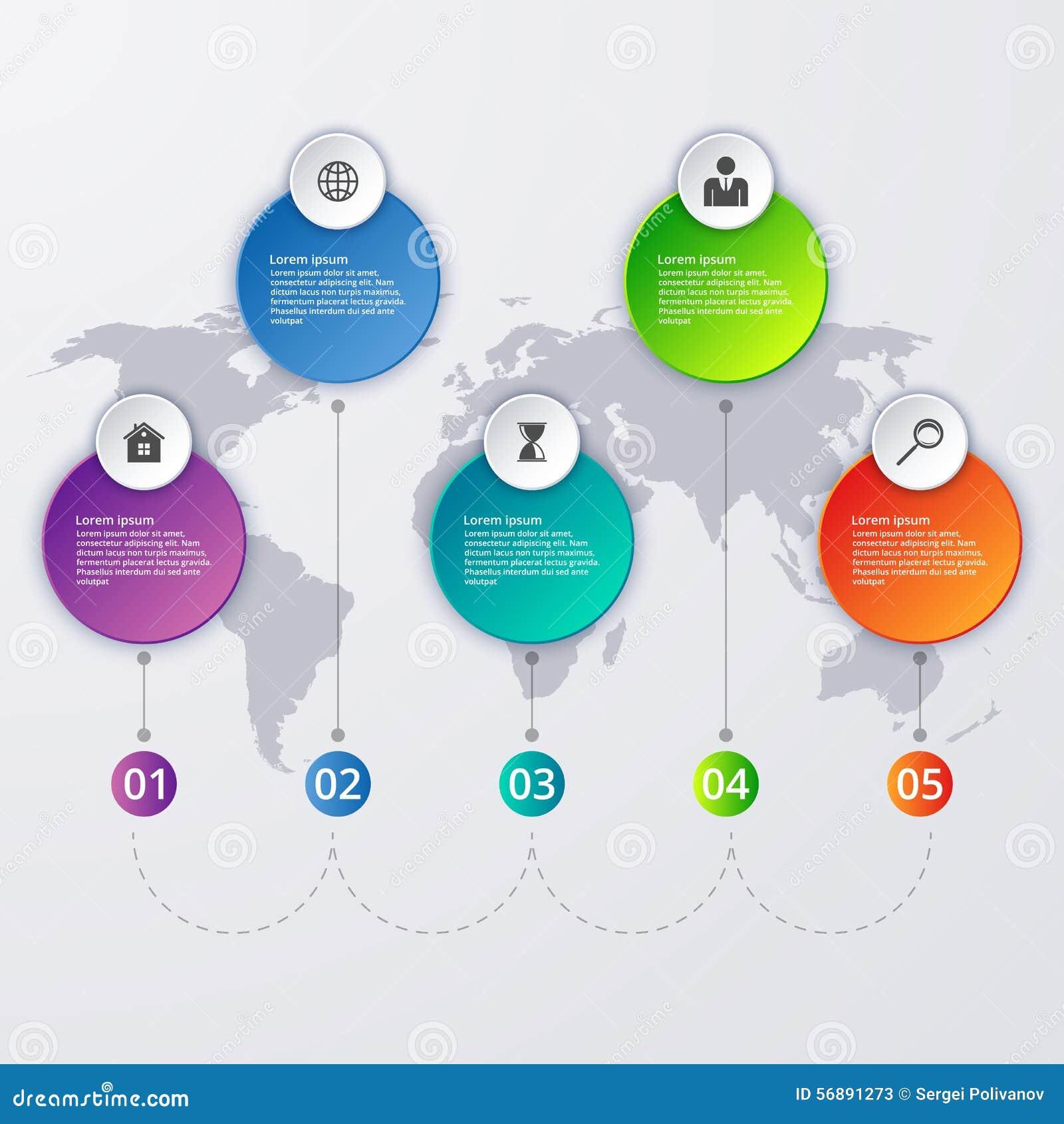 Illustrazione di vettore di un infographics di cronologia