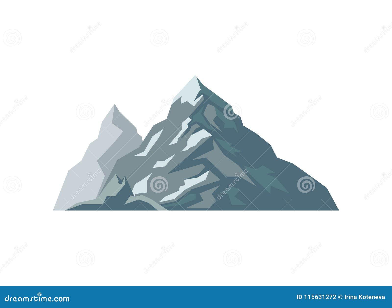 Illustrazione di vettore isolata alto iceberg