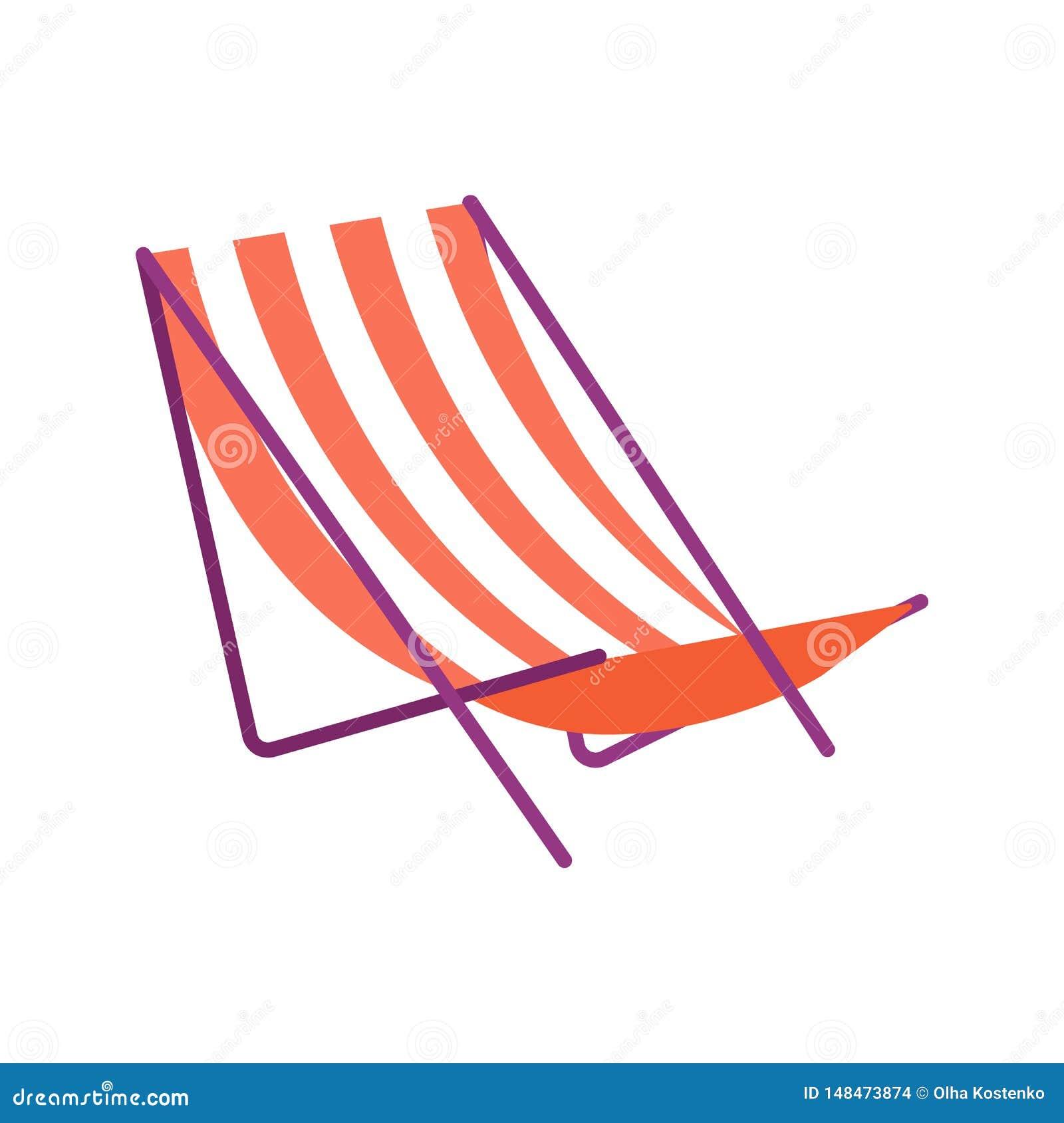 Illustrazione di vettore Le chaise per rilassarsi