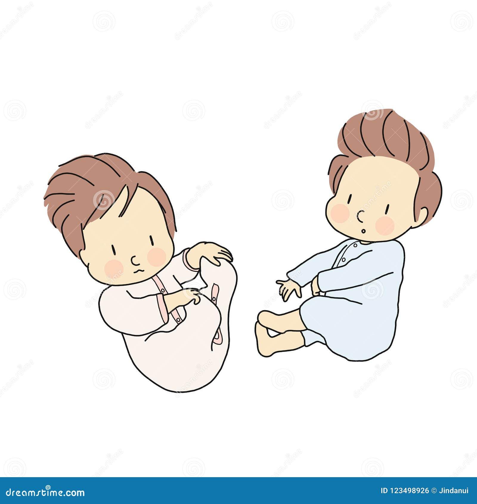 Illustrazione Di Vettore Di Piccola Stenditura Degli Infanti Neonato