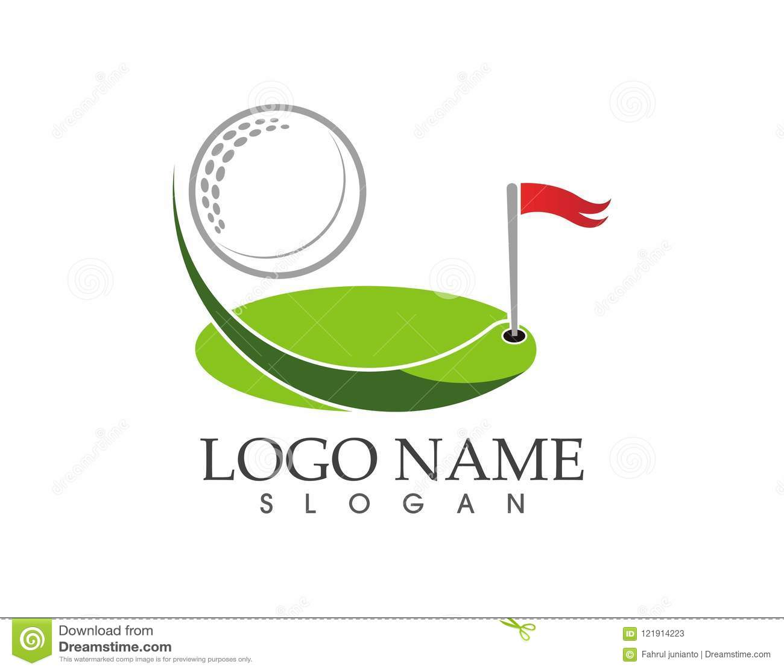 Illustrazione di vettore di progettazione di logo dell icona di golf