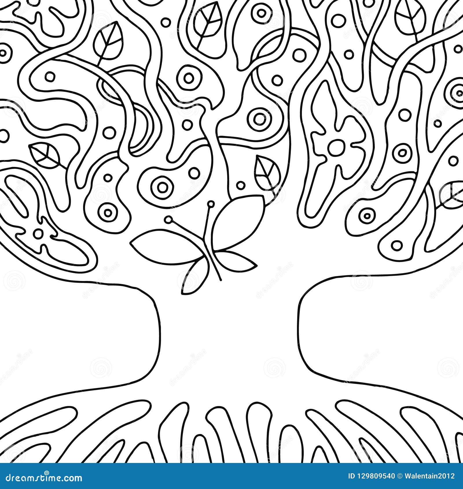 Illustrazione Disegnata A Mano In Bianco E Nero Di Vettore Dell