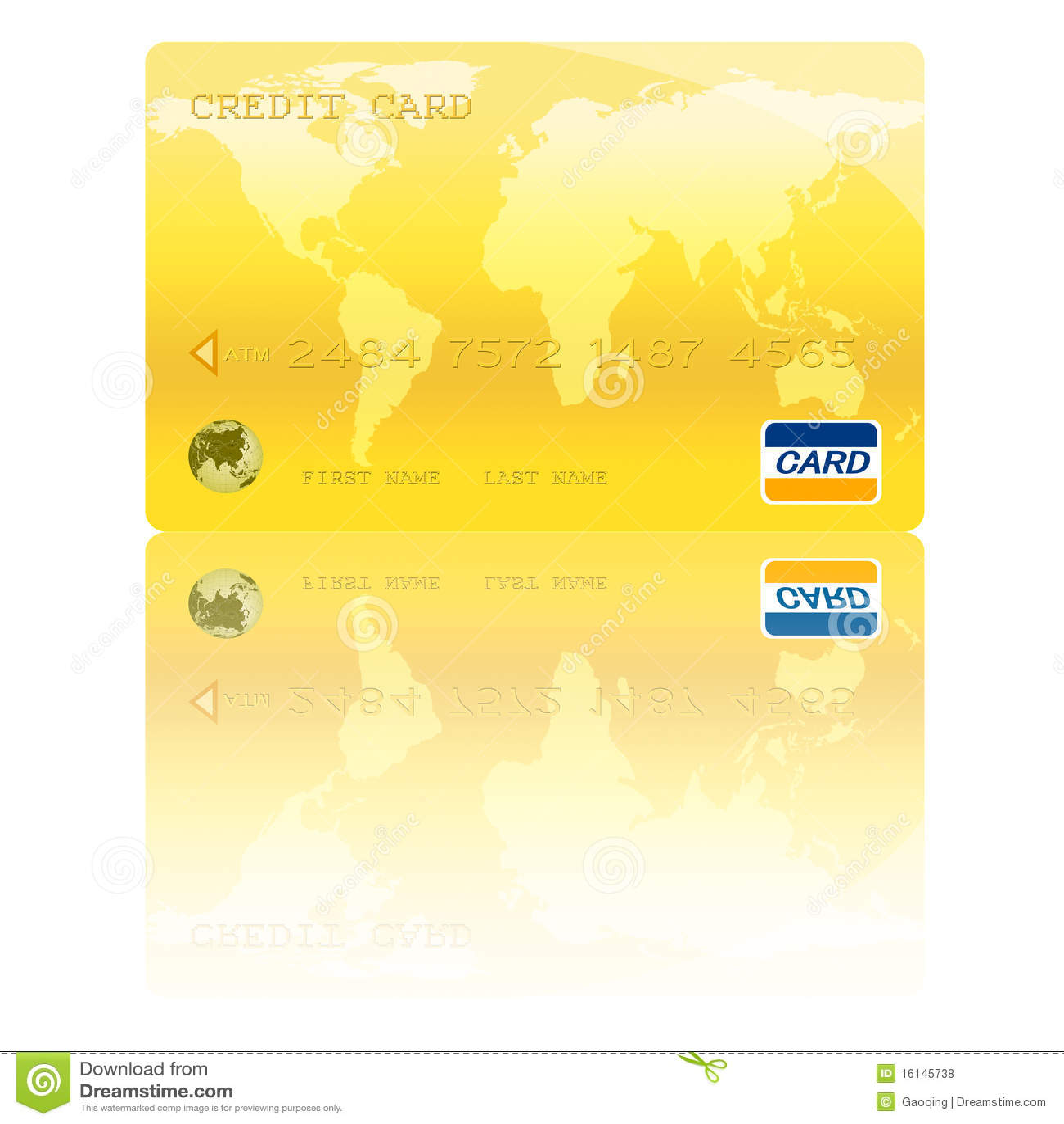 Illustrazione dorata di Digitahi della carta di credito