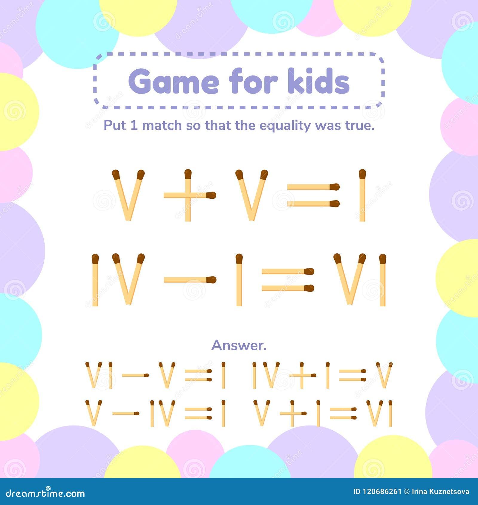 Illustrazione Gioco Di Per La Matematica Per I Bambini ...