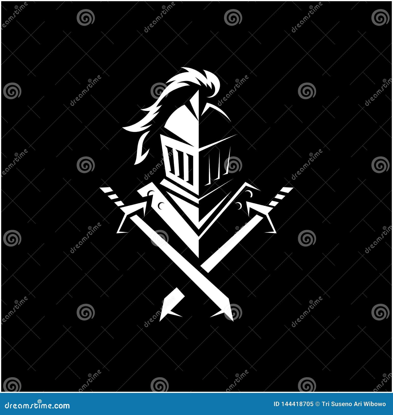 Illustrazione impressionante di vettore di logo del cavaliere
