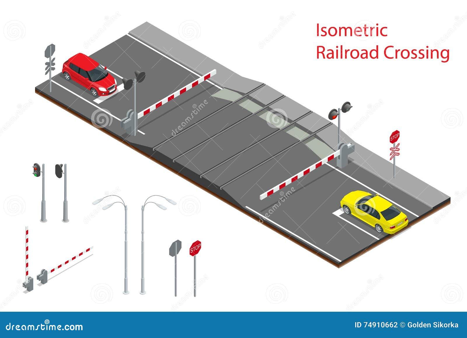 Illustrazione isometrica di vettore del passaggio a for Piani di fattoria di un livello