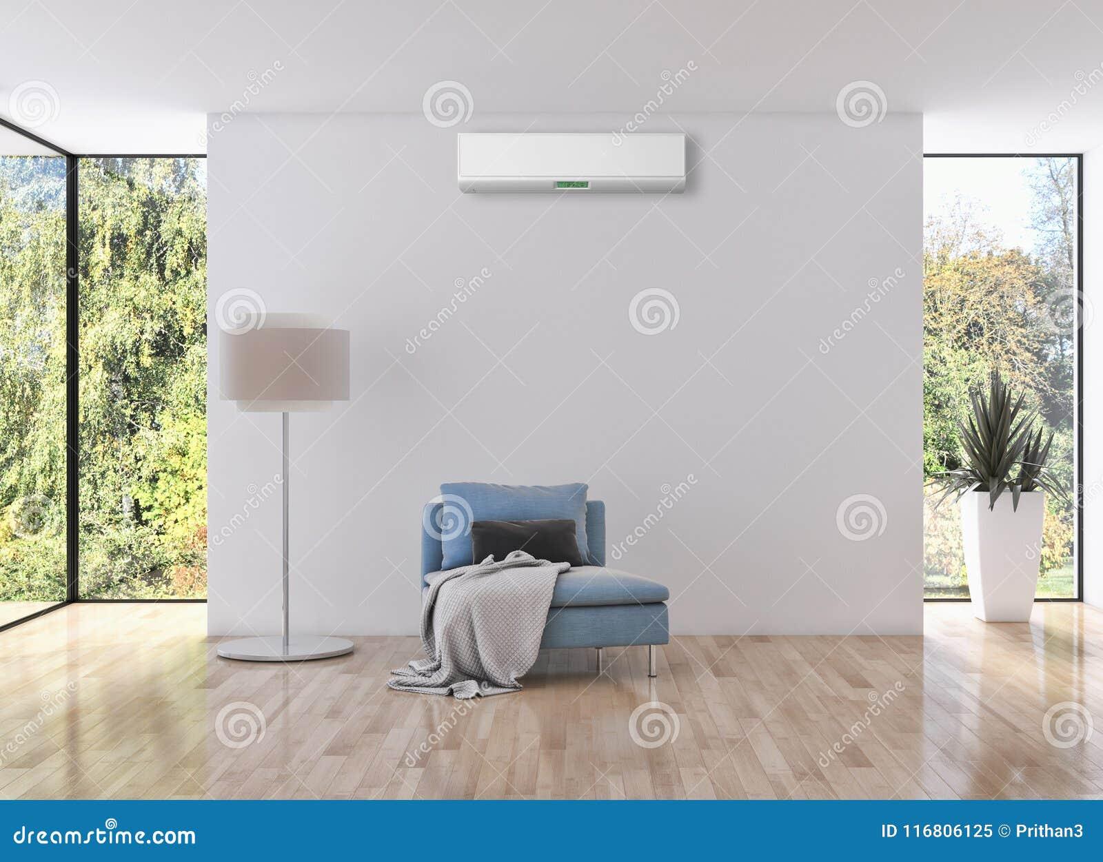 Illustrazione luminosa moderna della rappresentazione dell appartamento 3D degli interni